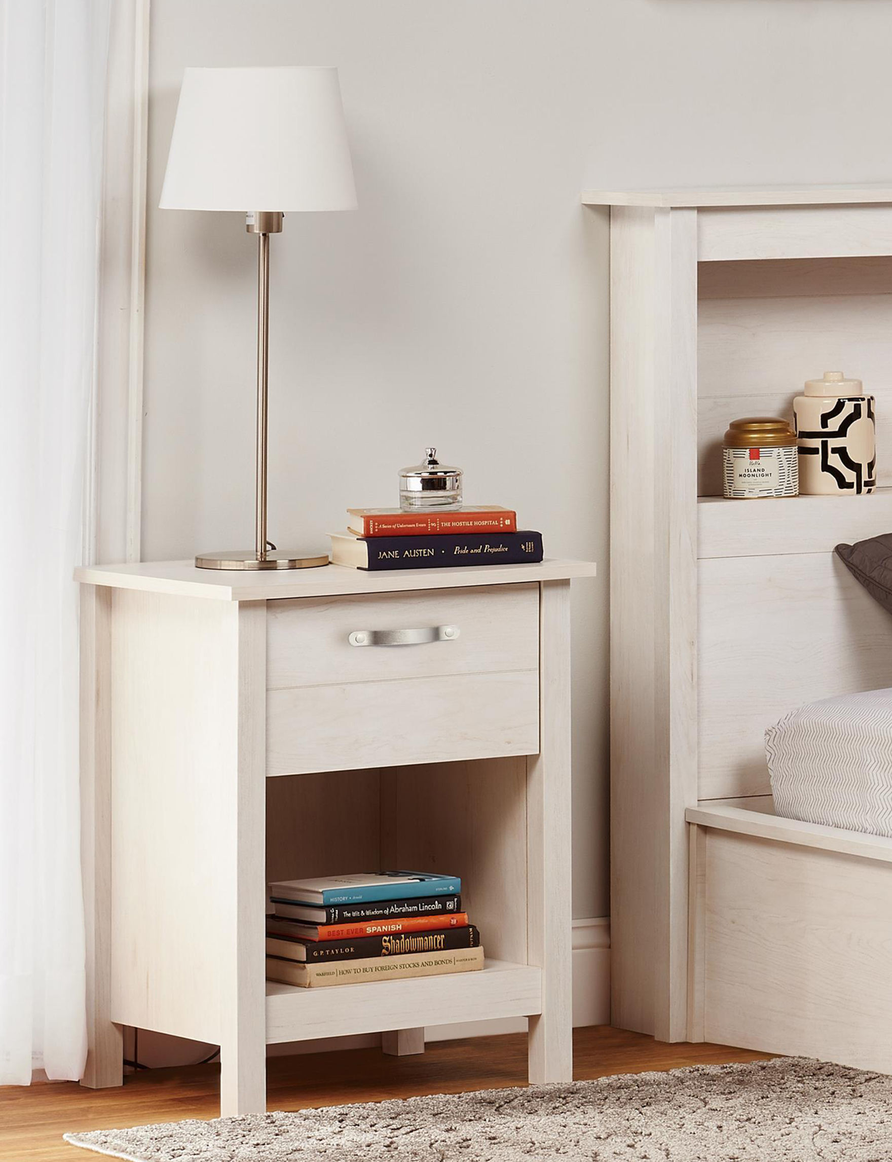 Ameriwood Off White Night Stands Bedroom Furniture