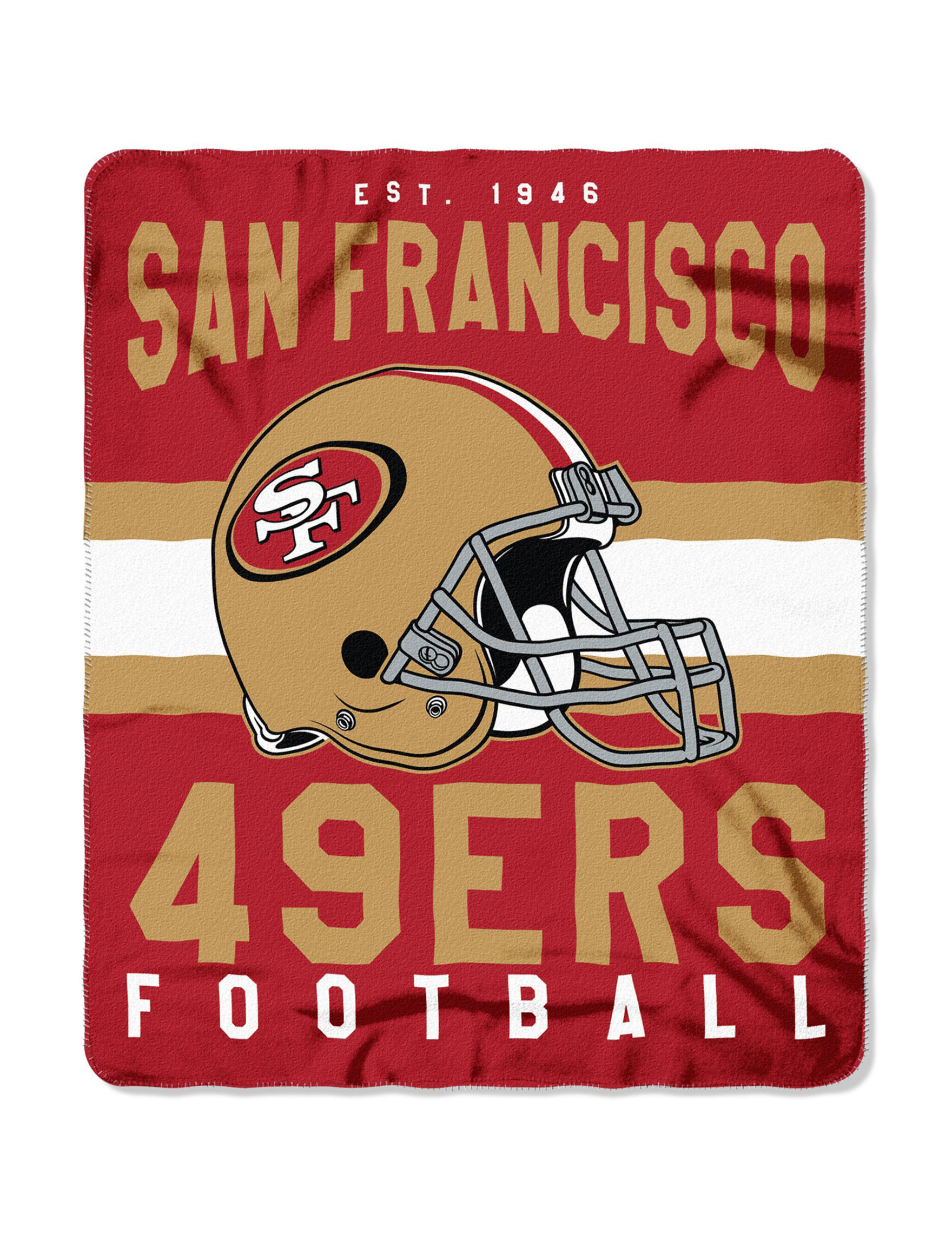 timeless design 89931 920ae San Francisco 49ers Marquee Fleece Throw | Stage Stores