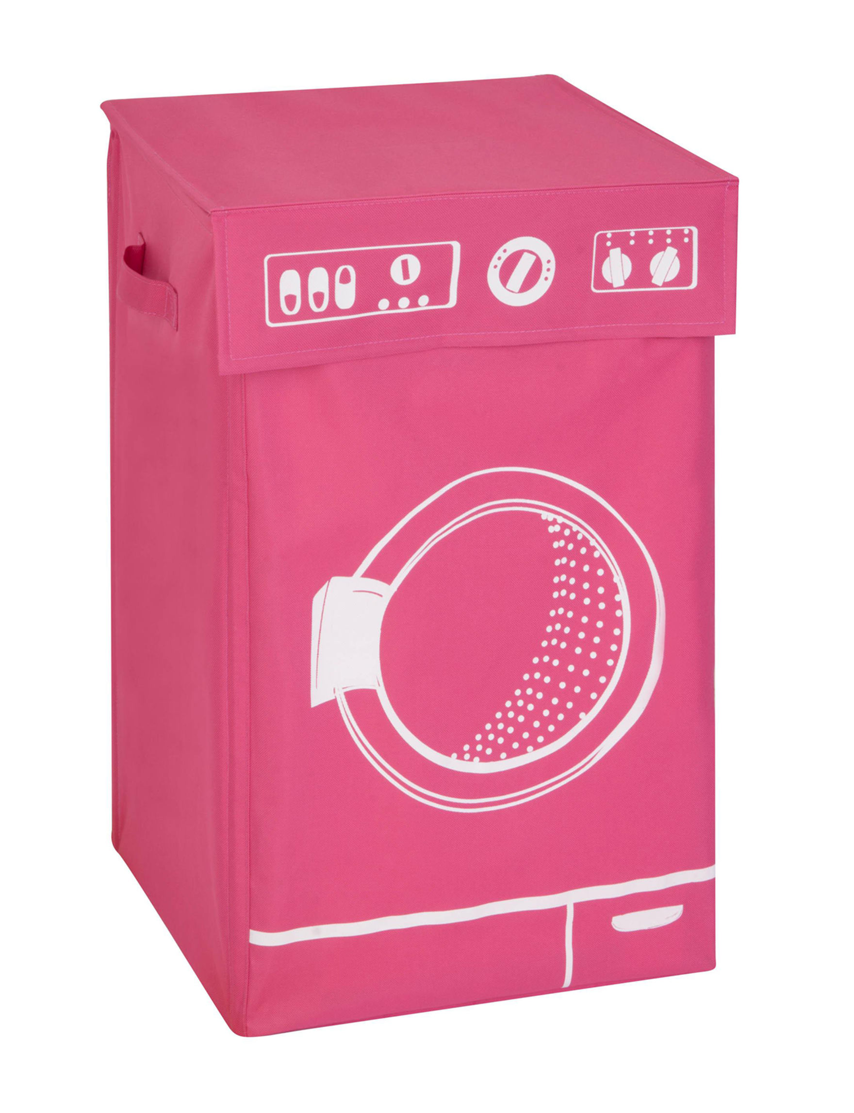Honey-Can-Do International Pink Laundry Hampers Irons & Clothing Care