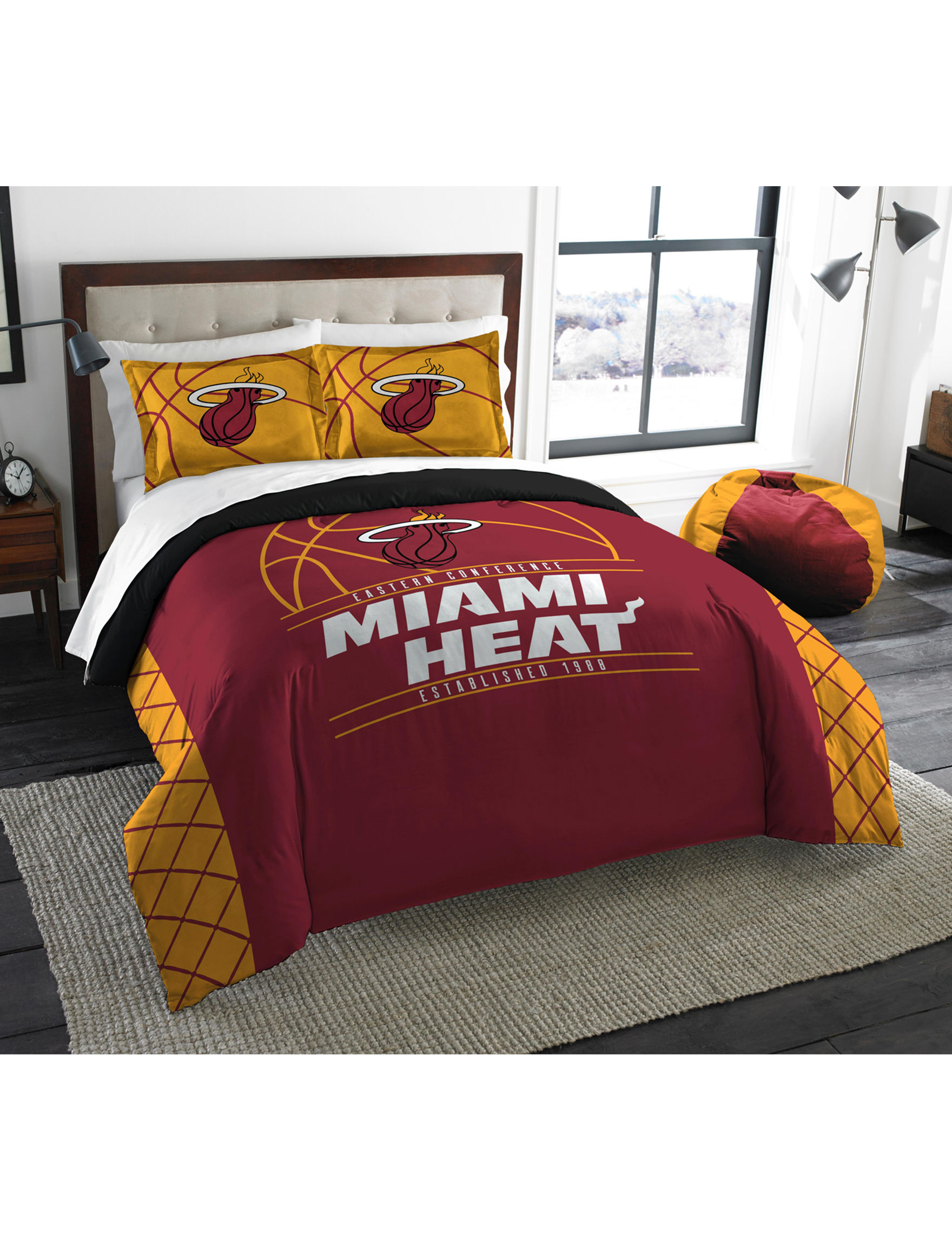 The Northwest Company Red / Yellow Comforters & Comforter Sets NBA
