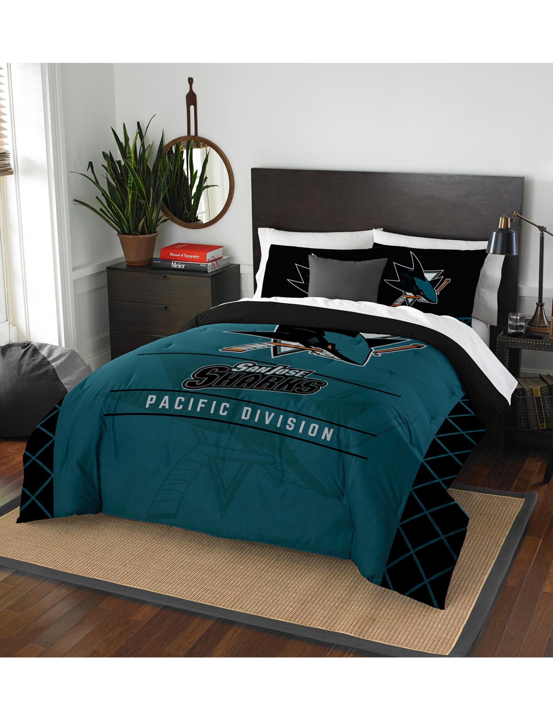 The Northwest Company Teal / Black Comforters & Comforter Sets