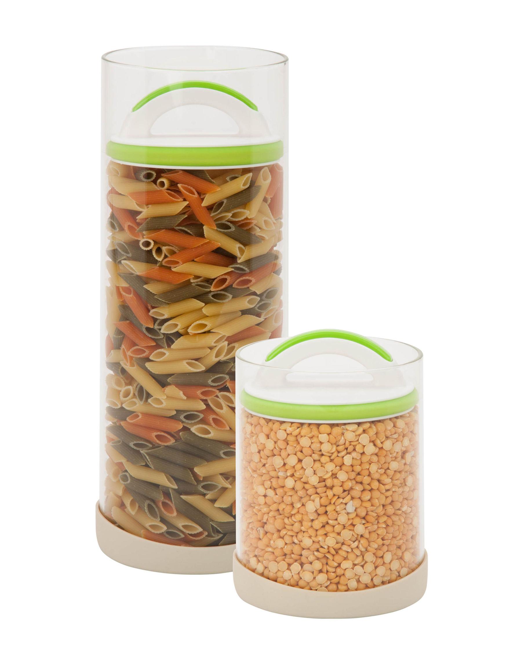 Honey-Can-Do International Green / White Food Storage Jars Kitchen Storage & Organization