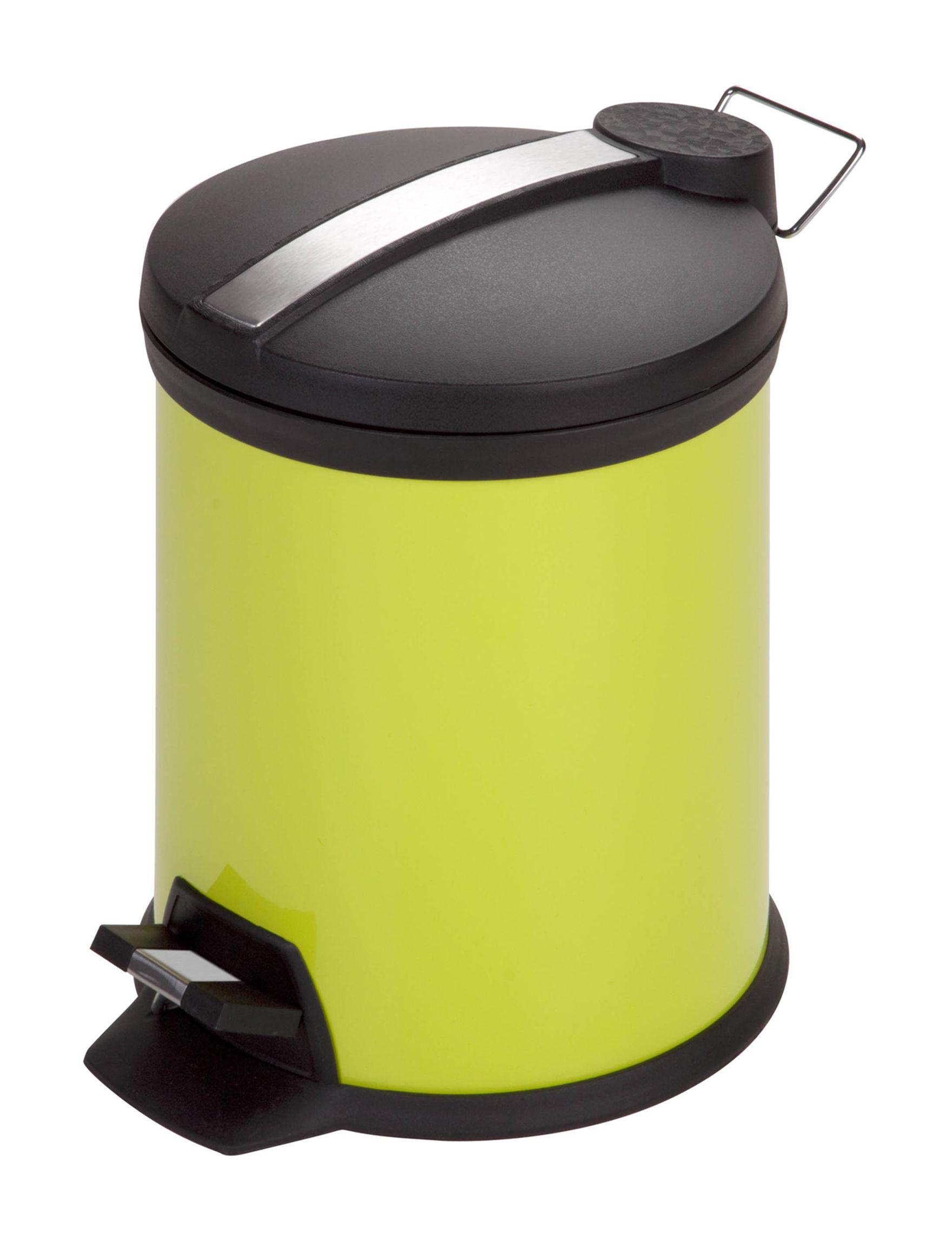 Honey-Can-Do International Lime Green Trash & Recycling Bins Storage & Organization