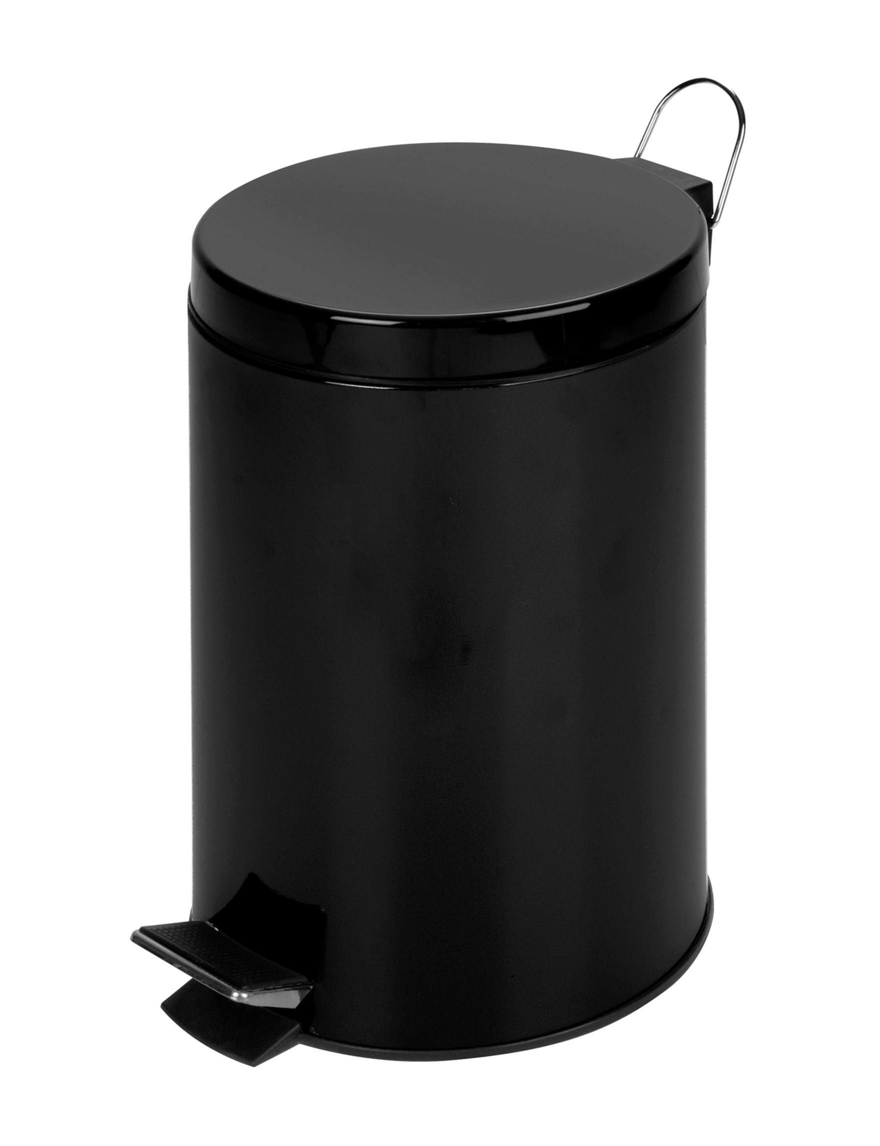 Honey-Can-Do International Black Trash & Recycling Bins Storage & Organization