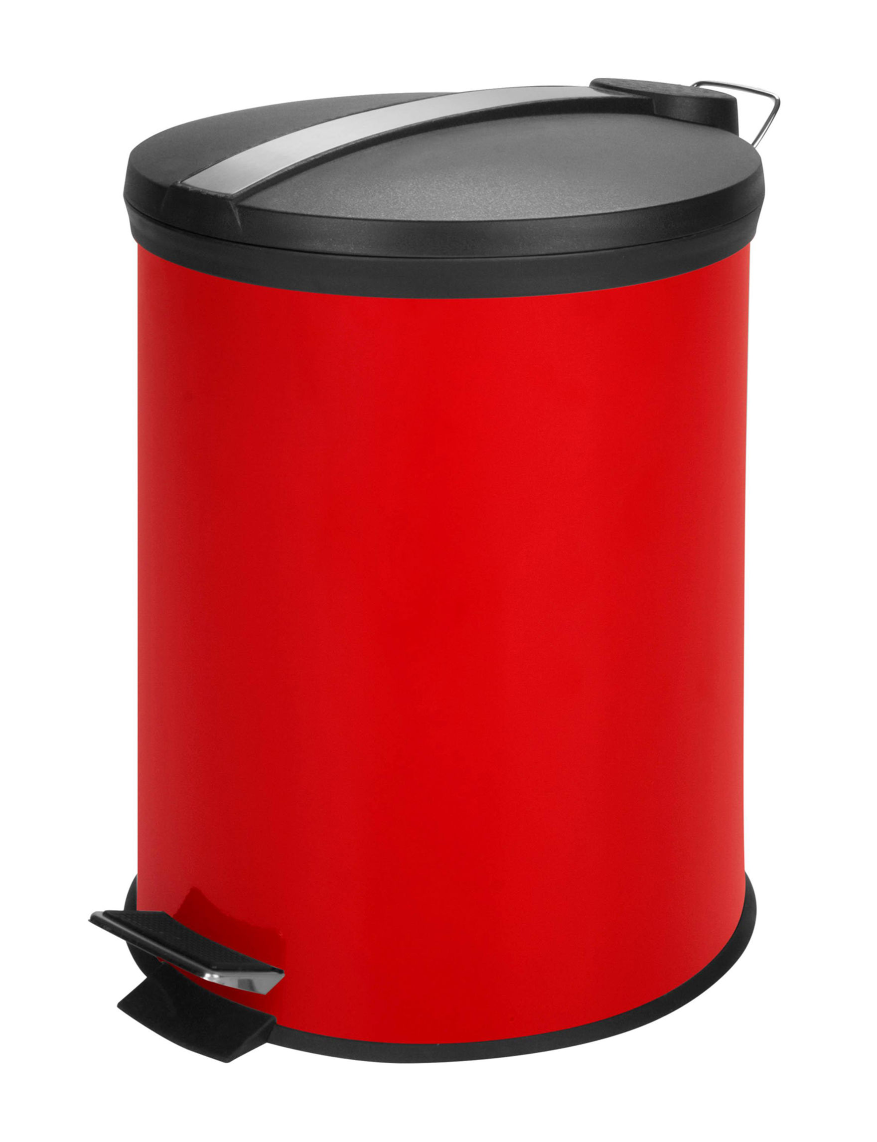 Honey-Can-Do International Red Trash & Recycling Bins Storage & Organization