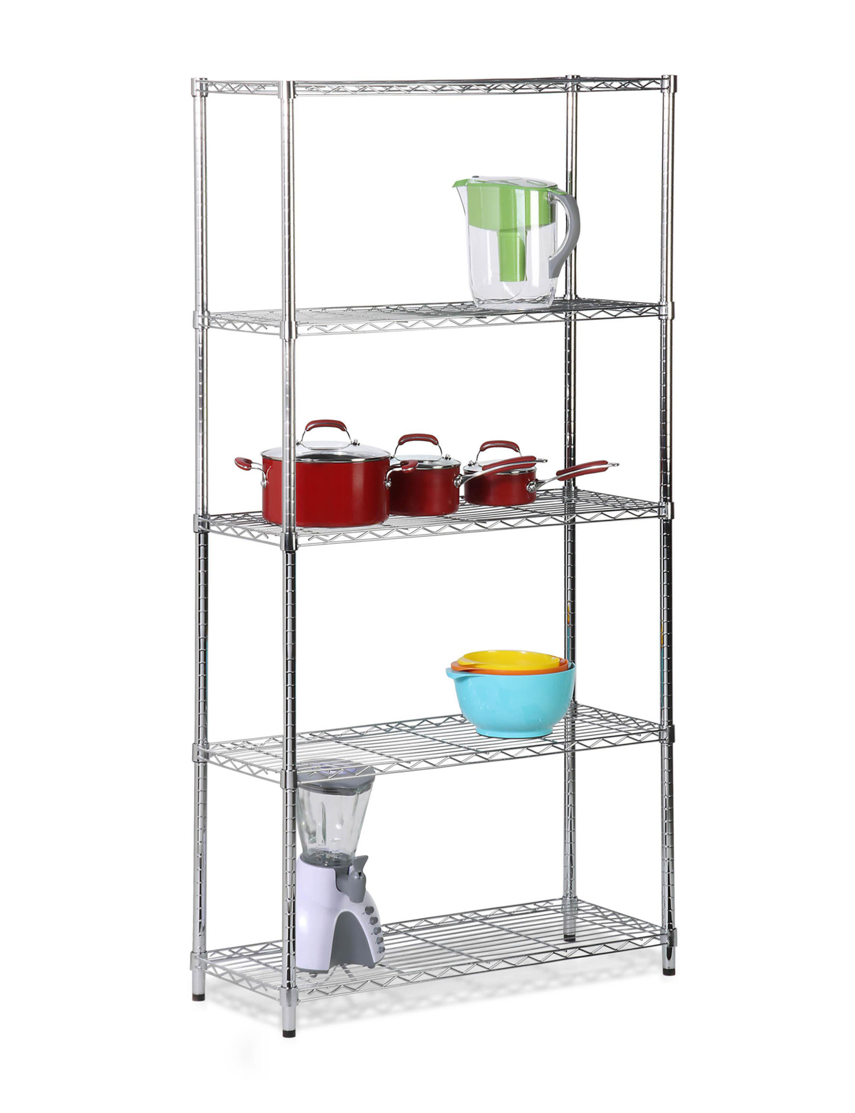 Honey-Can-Do International Grey Storage Shelves Storage & Organization