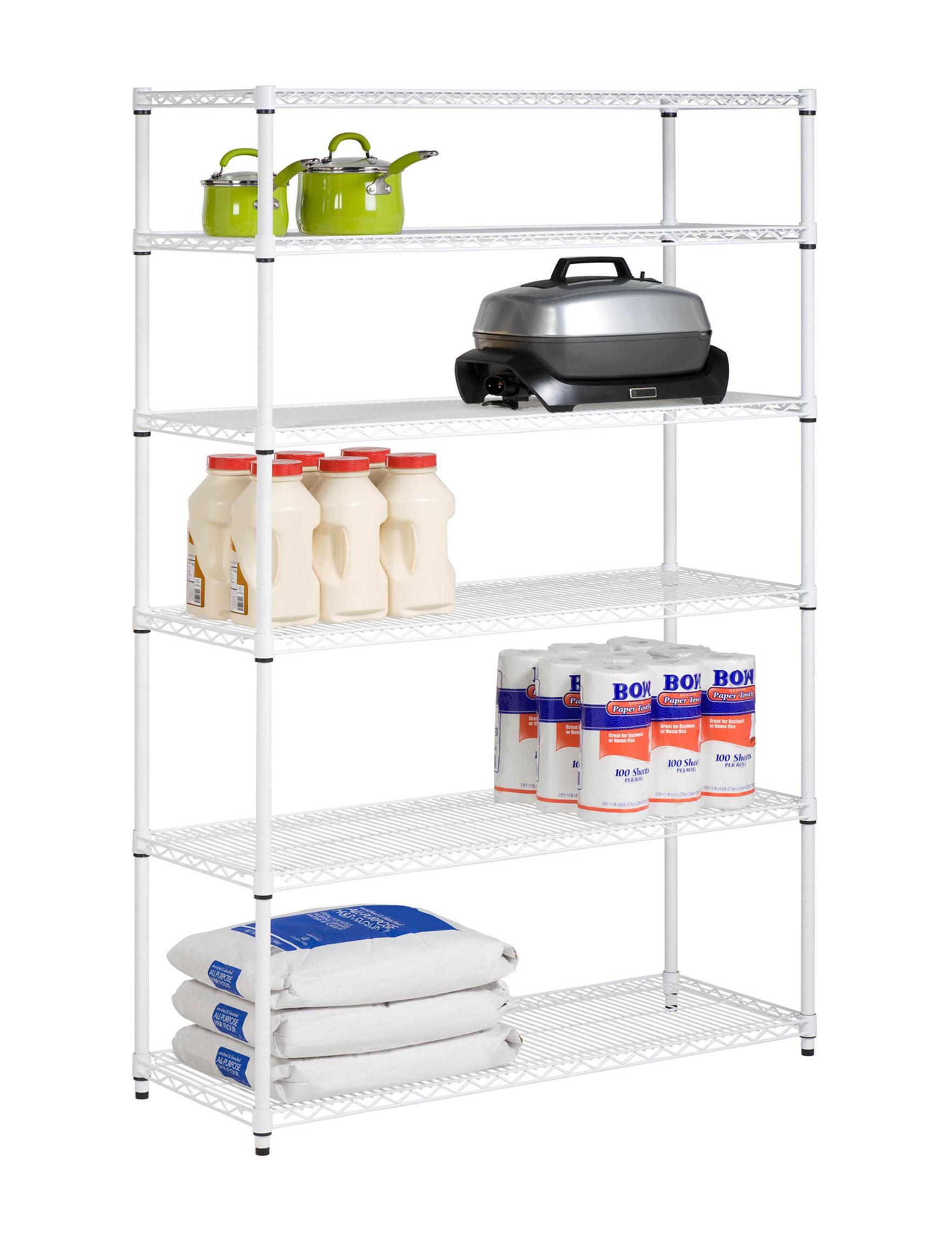 Honey-Can-Do International White Storage Shelves Storage & Organization