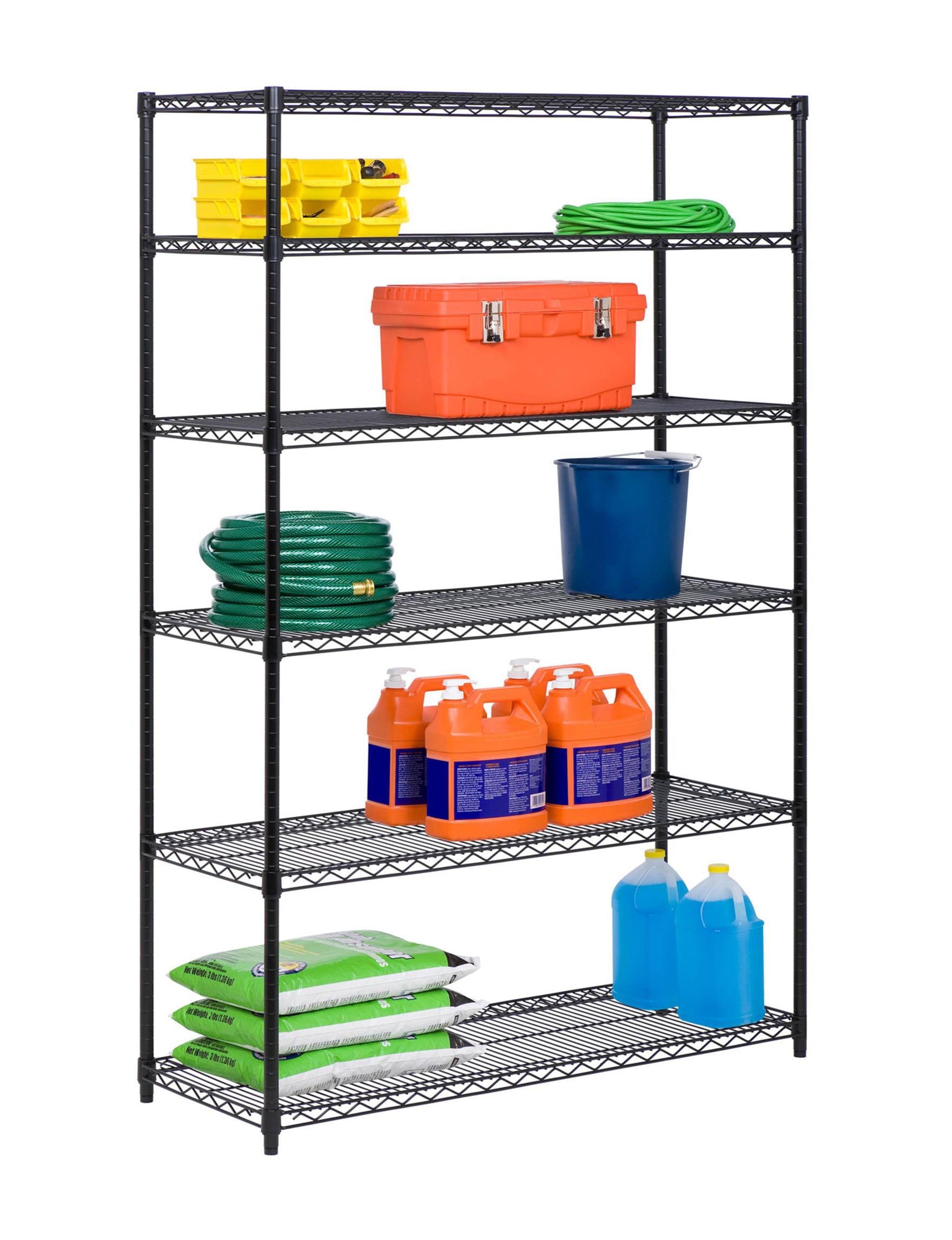 Honey-Can-Do International Black Storage Shelves Storage & Organization
