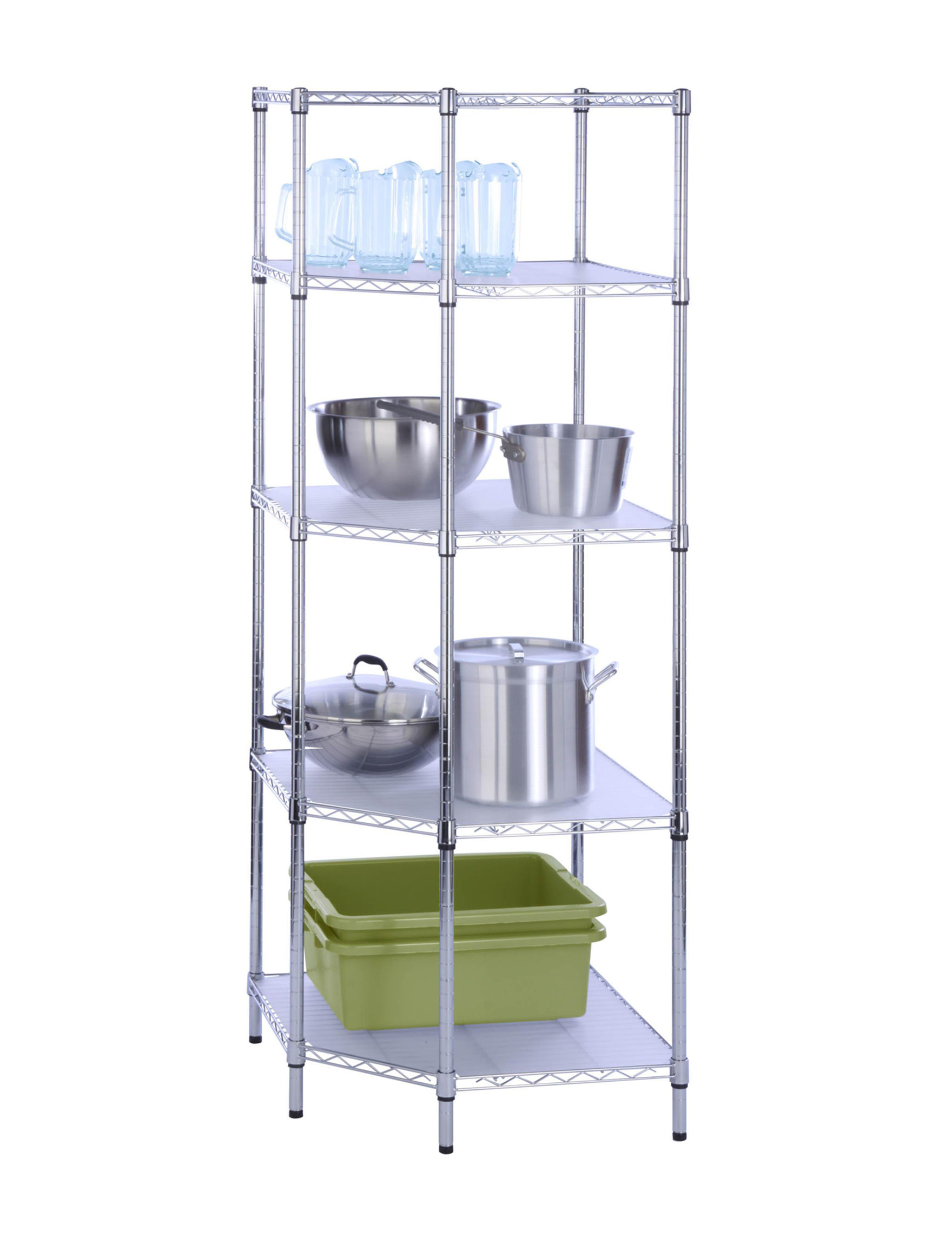 Honey-Can-Do International Chrome Storage Shelves Storage & Organization