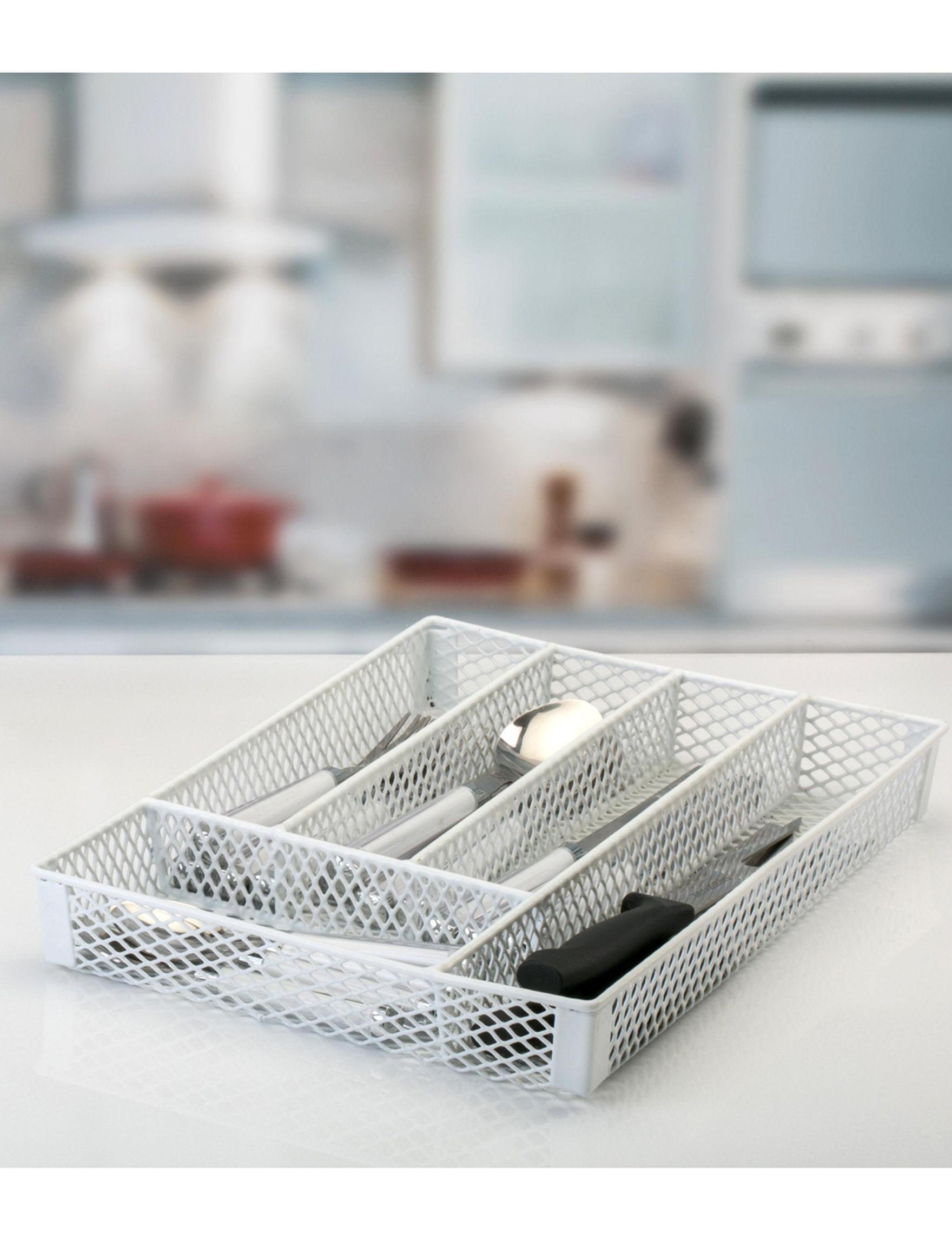 Simplify White Kitchen Storage & Organization