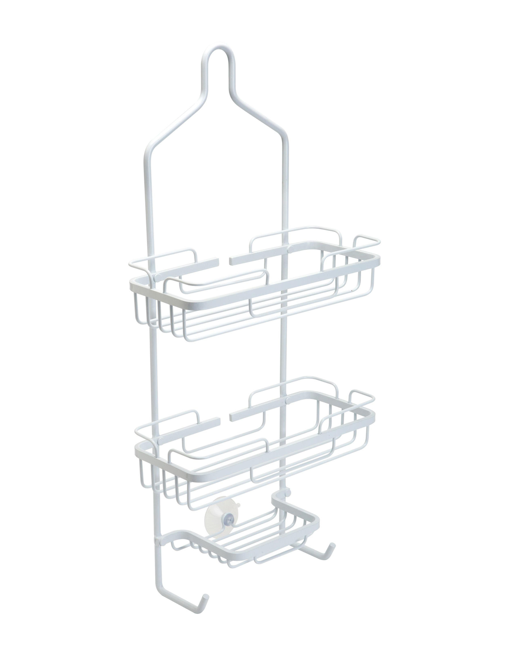 Bath Bliss Curved Aluminum White Shower Caddy | Stage Stores