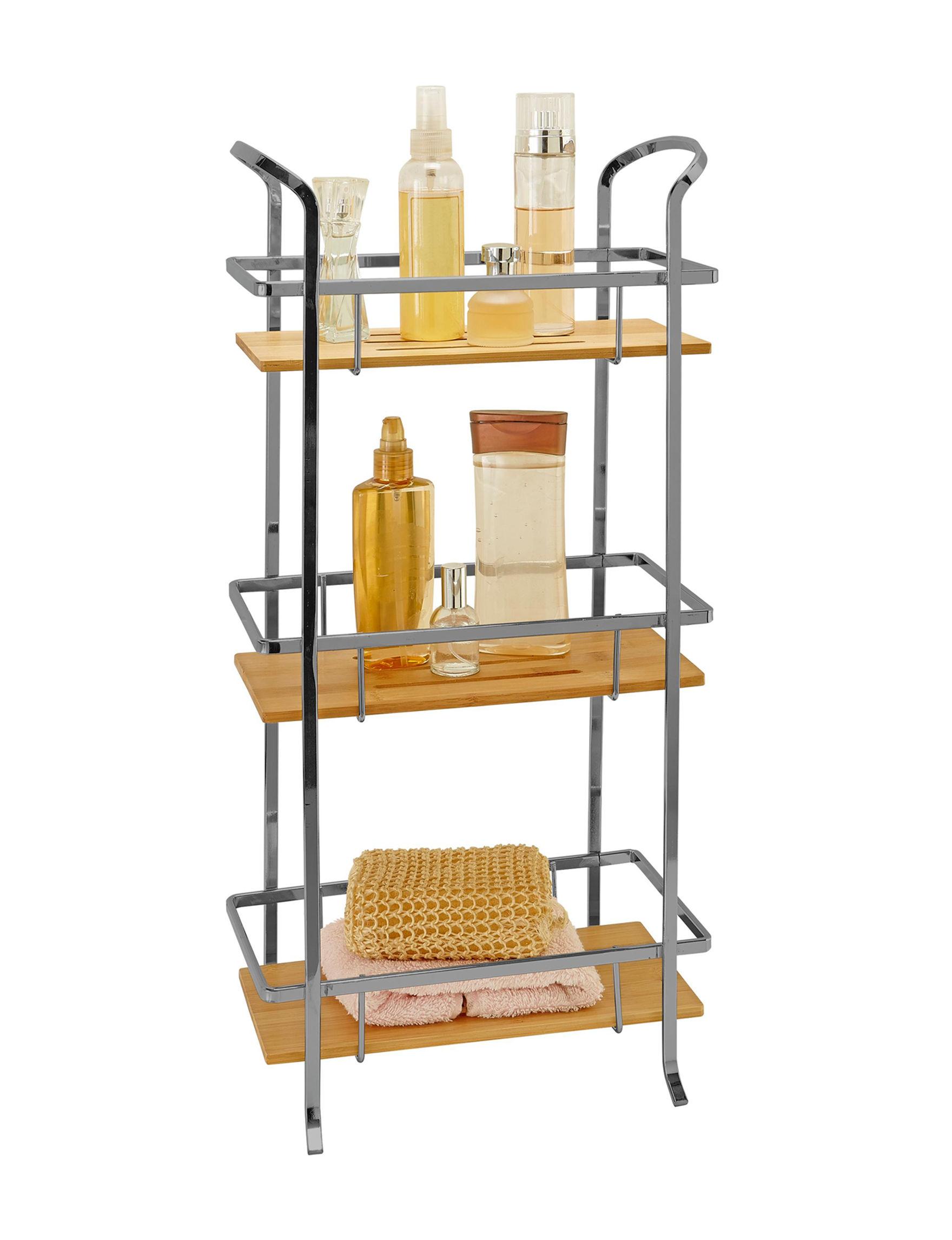Laura Ashley Grey Storage Shelves Bath Accessories Storage & Organization