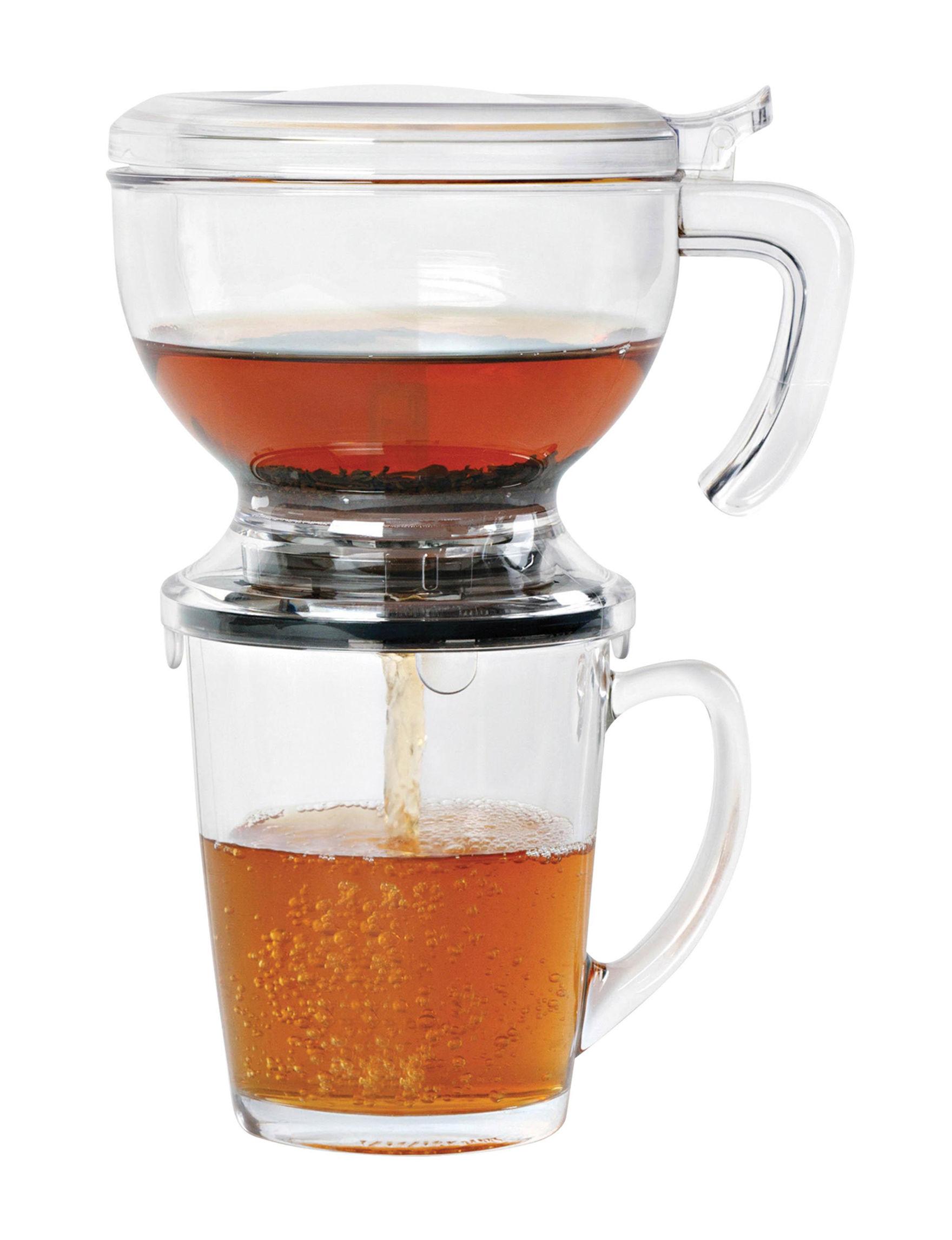 Honey-Can-Do International Clear Coffee, Espresso & Tea Makers Teapots Kitchen Appliances