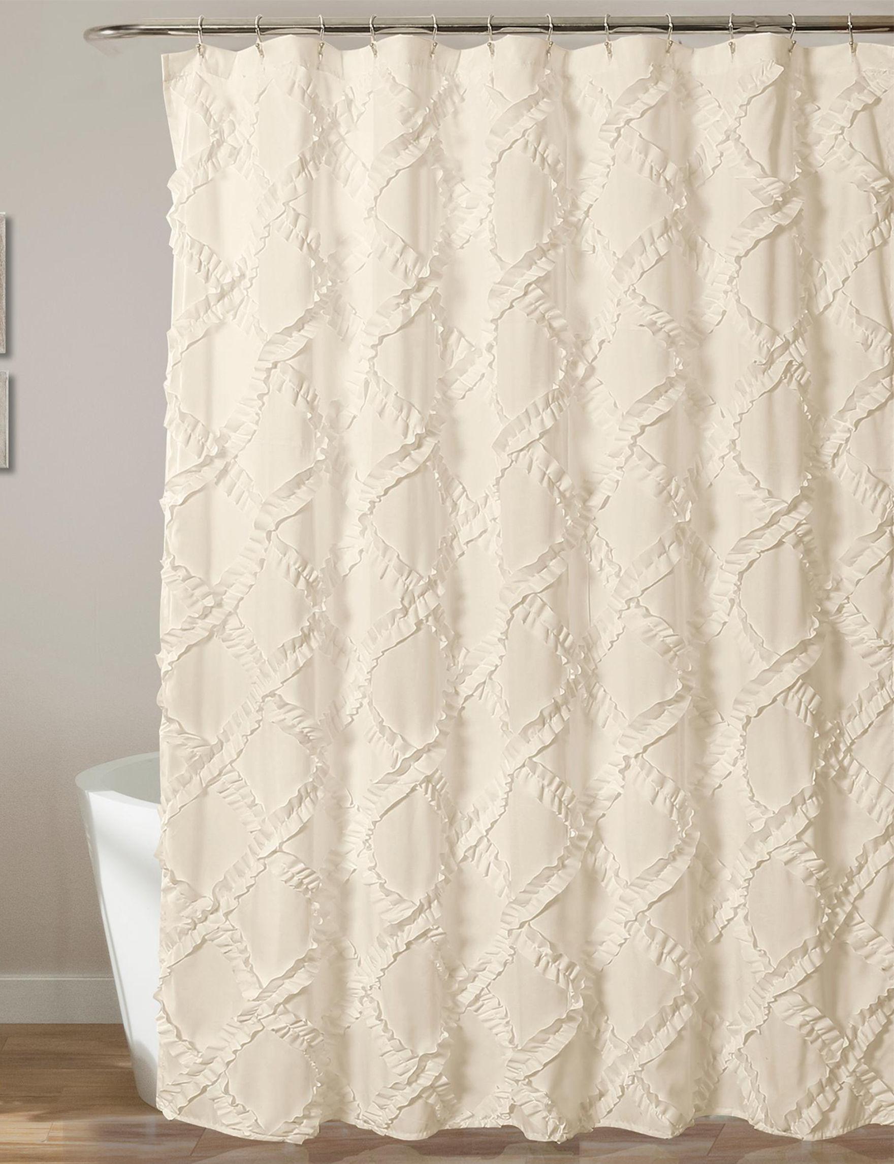 Lush Decor Ivory Shower Curtains & Hooks