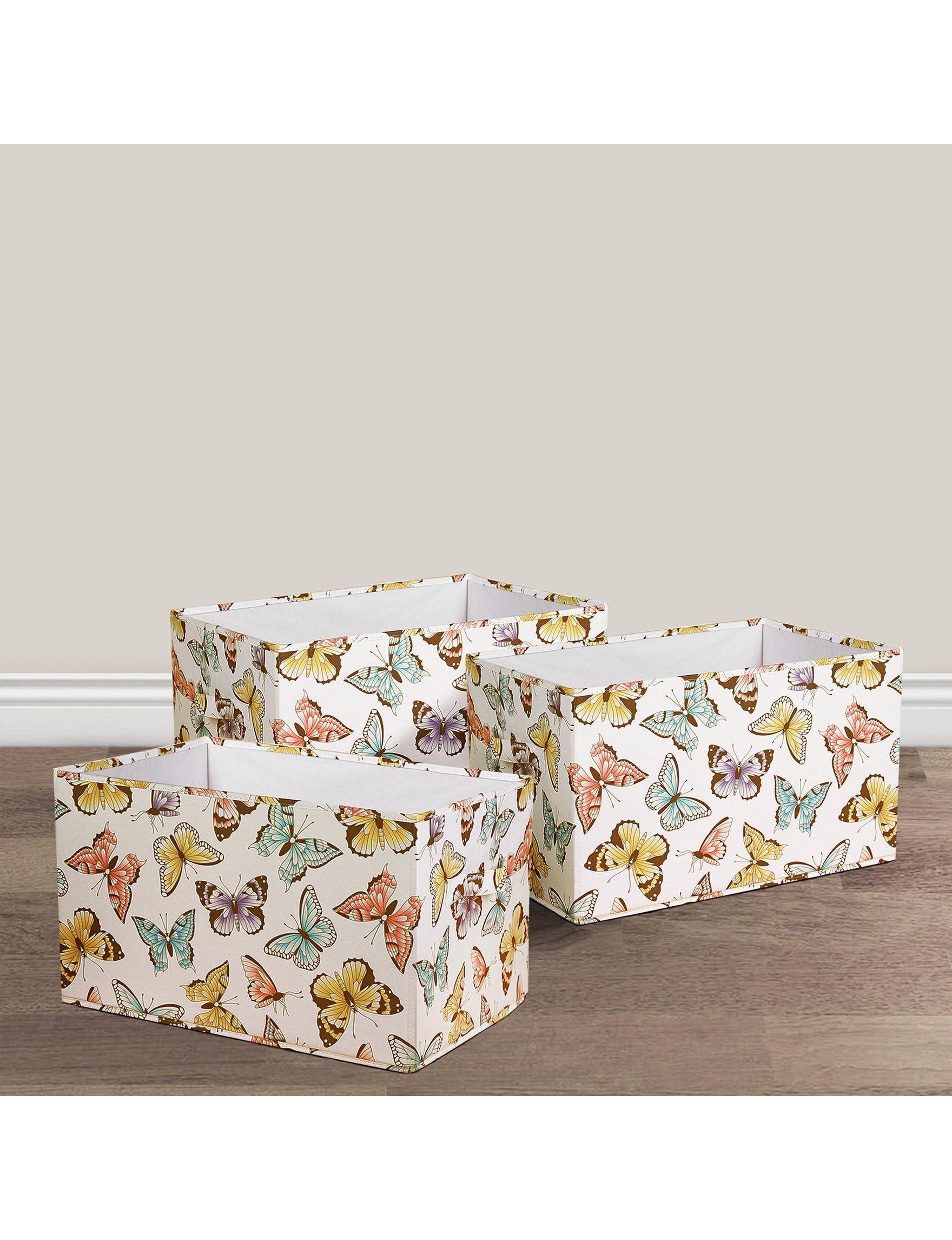 Lush Decor White / Multi Storage Bags & Boxes Storage & Organization