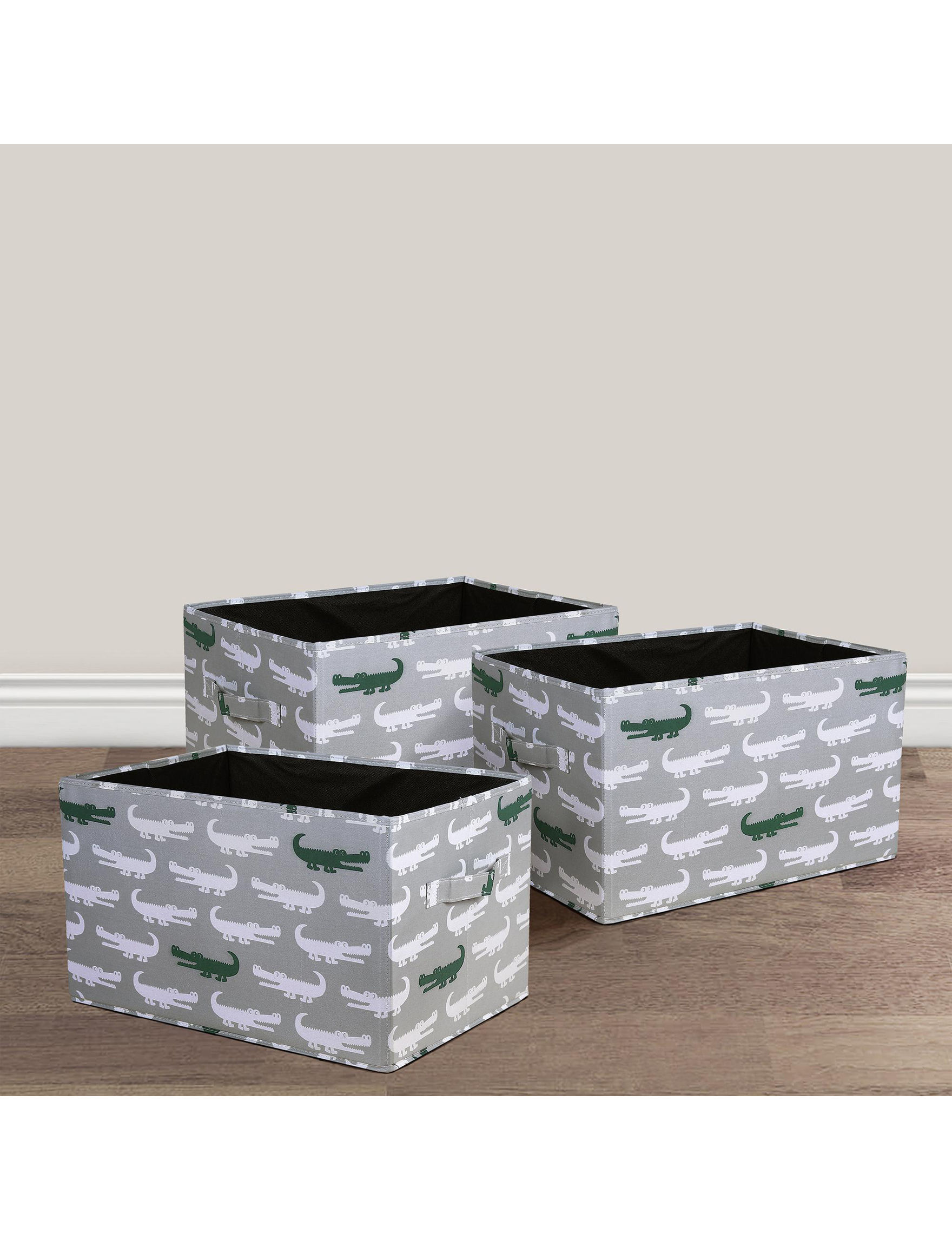 Lush Decor Grey / Green Carriers & Totes Storage Bags & Boxes Storage & Organization