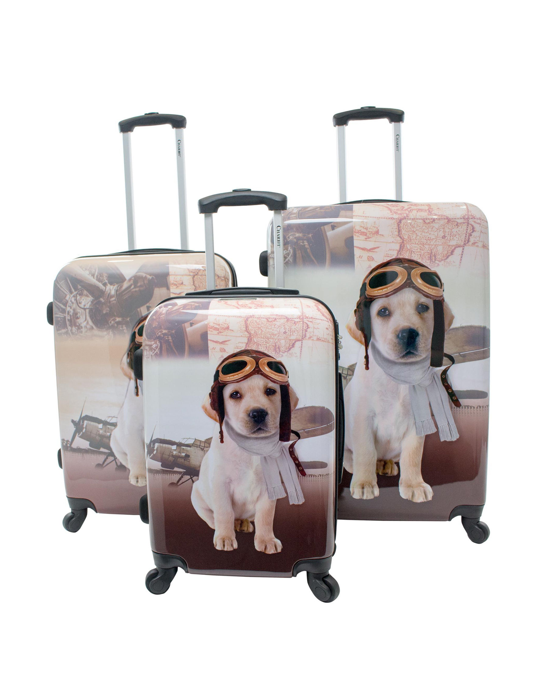 Chariot Travelware Beige Luggage Sets