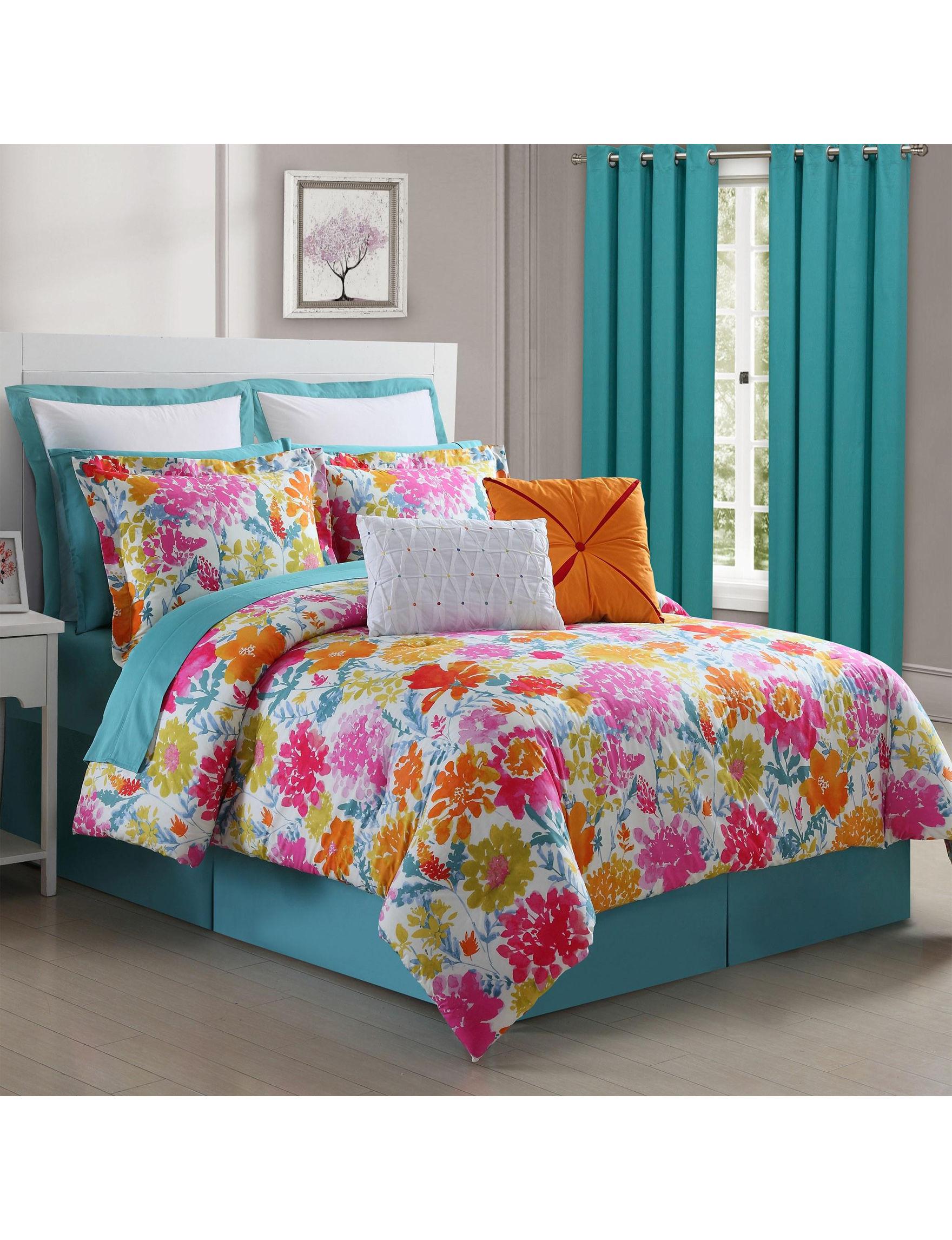 Fiesta Pink Multi Comforters & Comforter Sets