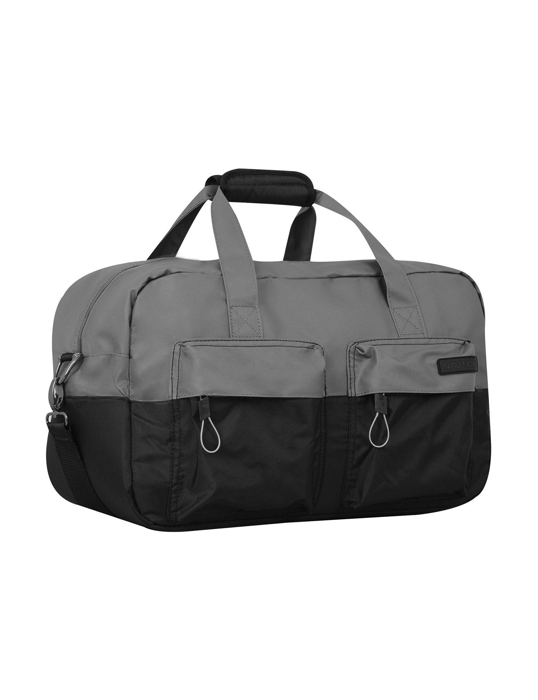 Nautica Grey Carry On Luggage Duffle Bags Weekend Bags