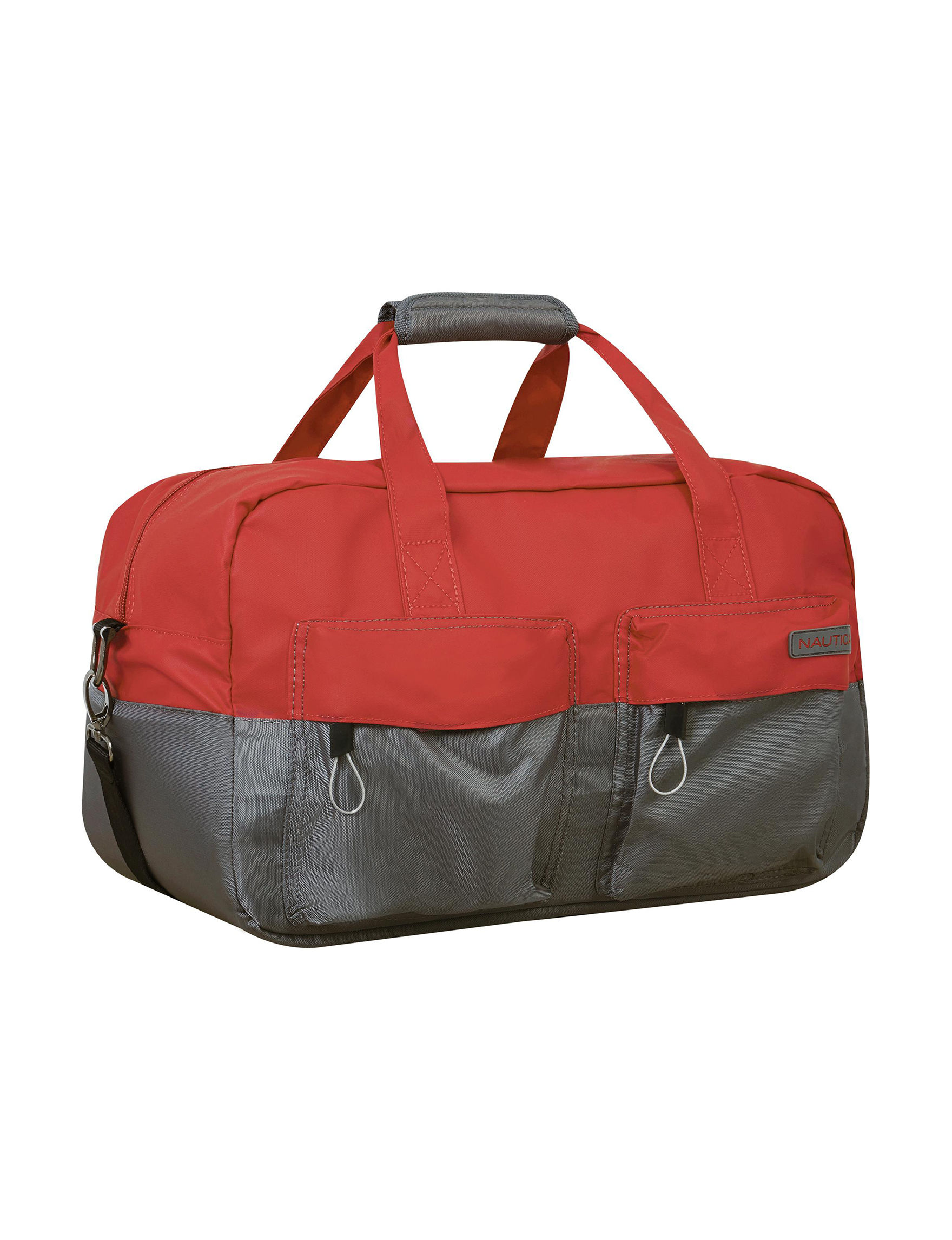 Nautica Red Carry On Luggage Duffle Bags Weekend Bags