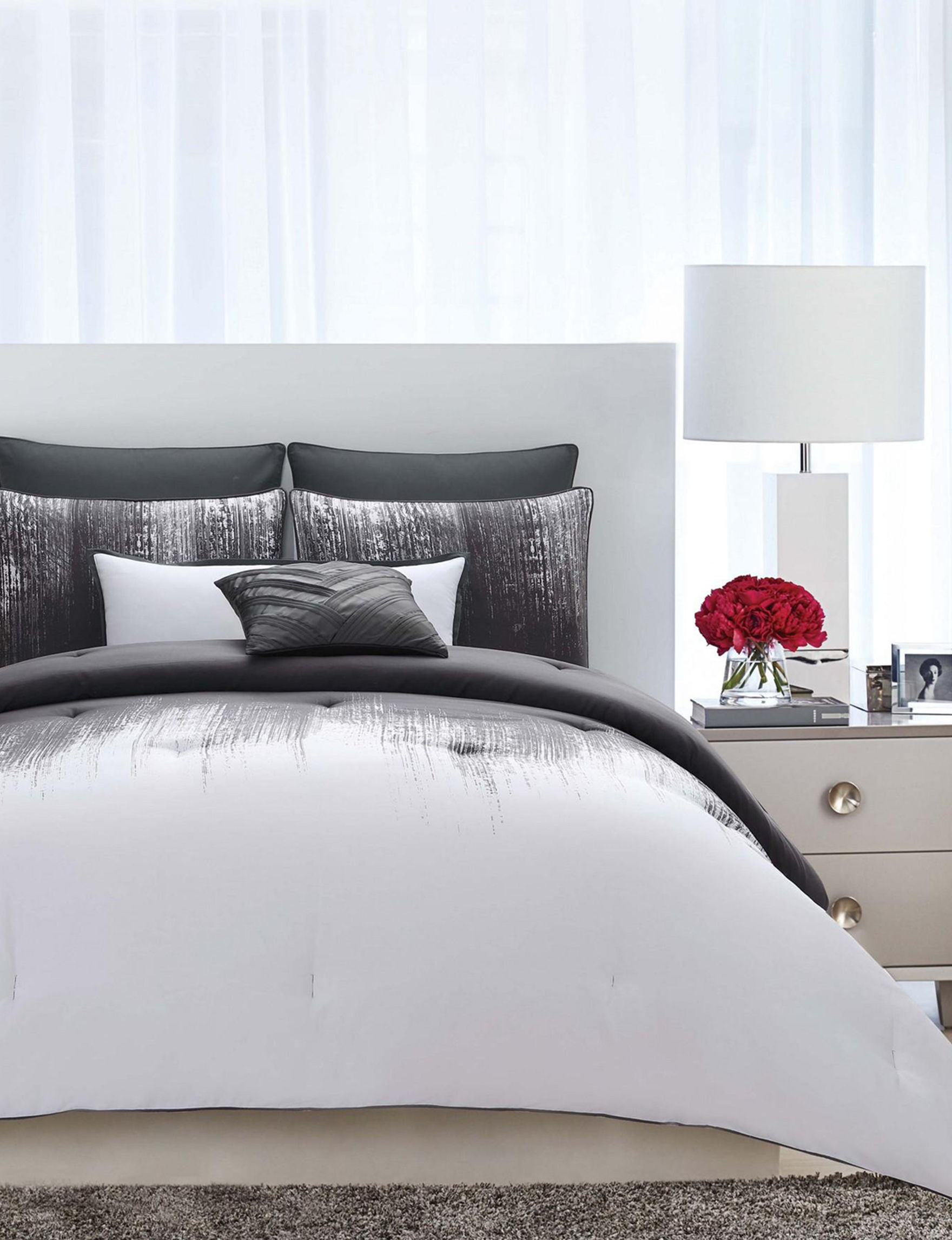 Vince Camuto Grey Comforters & Comforter Sets