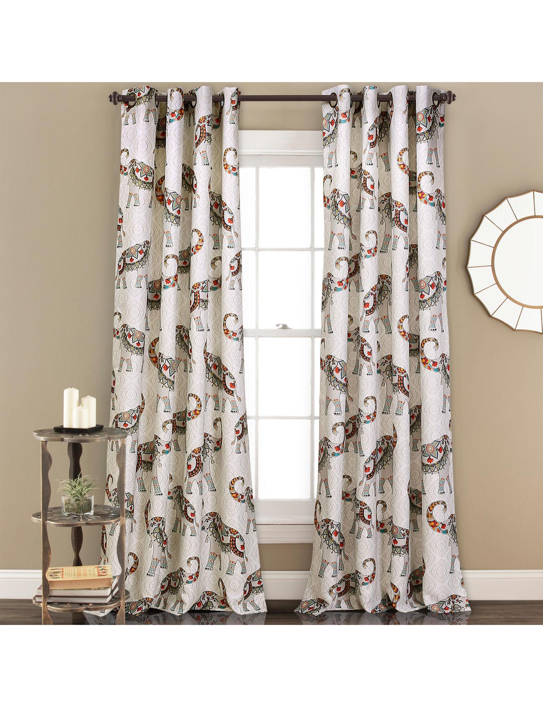 Half Moon Navy/ Turquoise Curtains & Drapes Window Treatments
