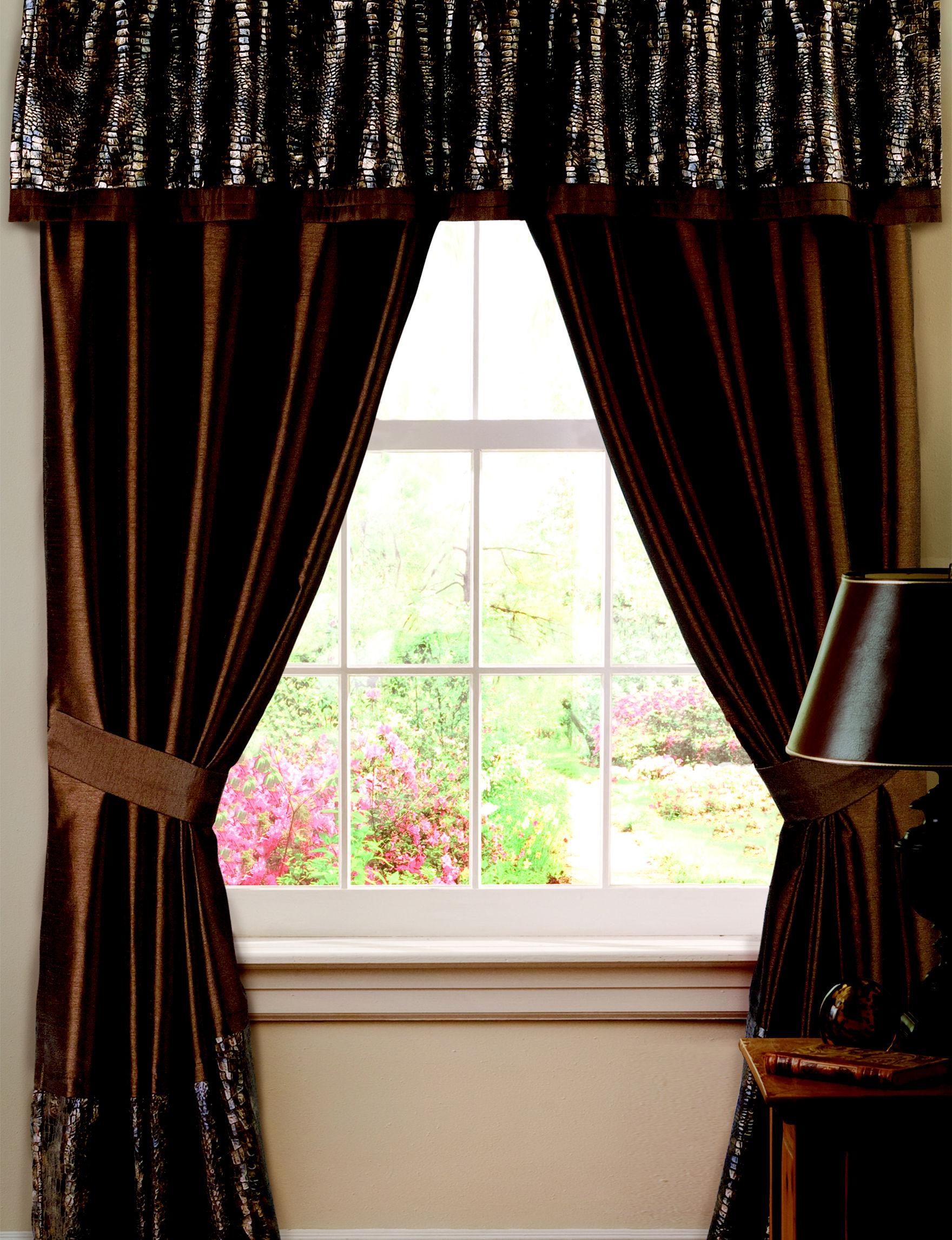 Lush Decor Brown Curtains & Drapes Window Treatments