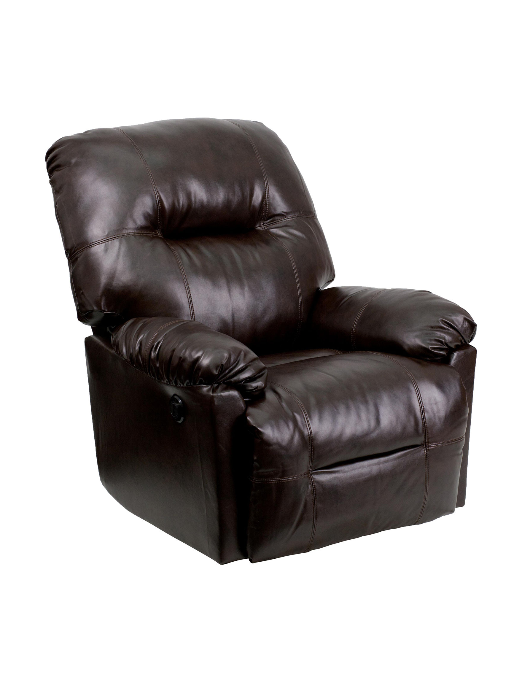 Flash Furniture Dark Brown Accent Chairs Living Room Furniture