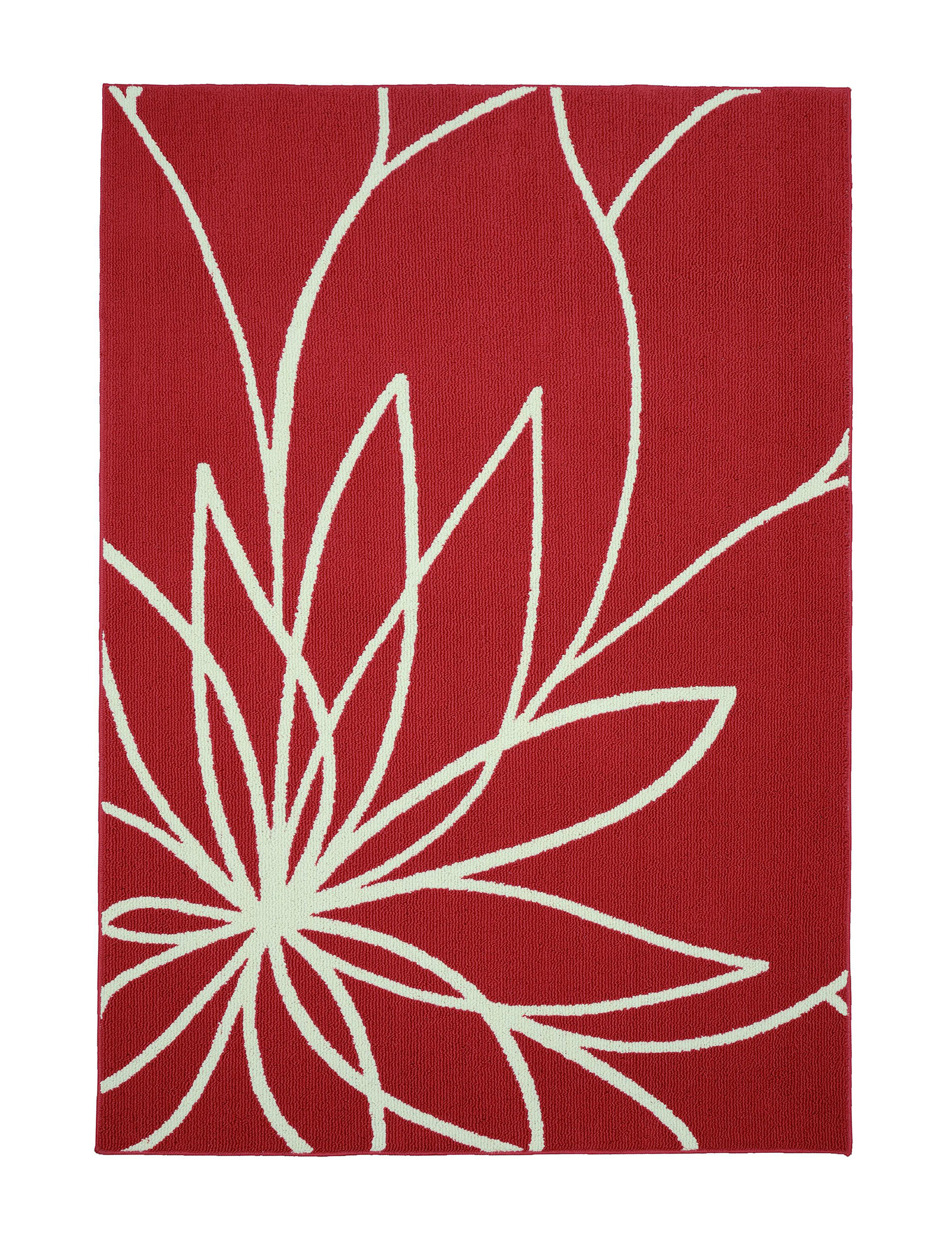 Garland Rug Red / White Accent Rugs Rugs