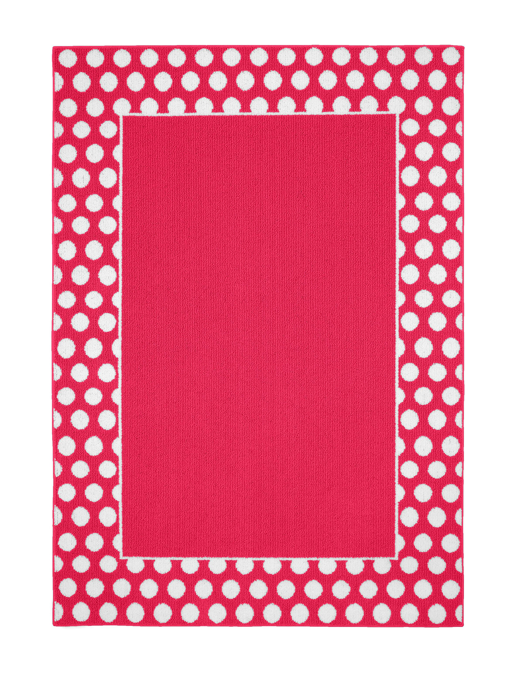 Garland Rug Pink / White Area Rugs Rugs