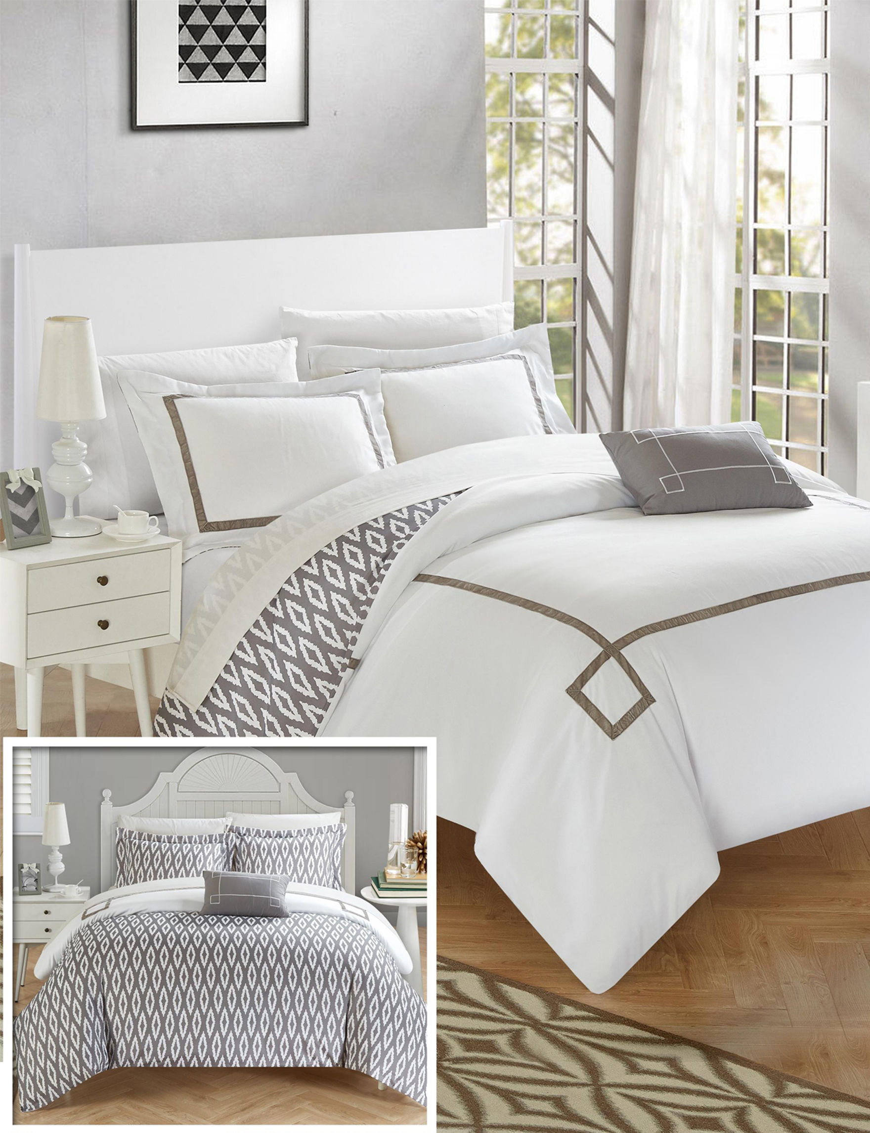 Chic Home Design Grey Duvet Duvets & Duvet Sets