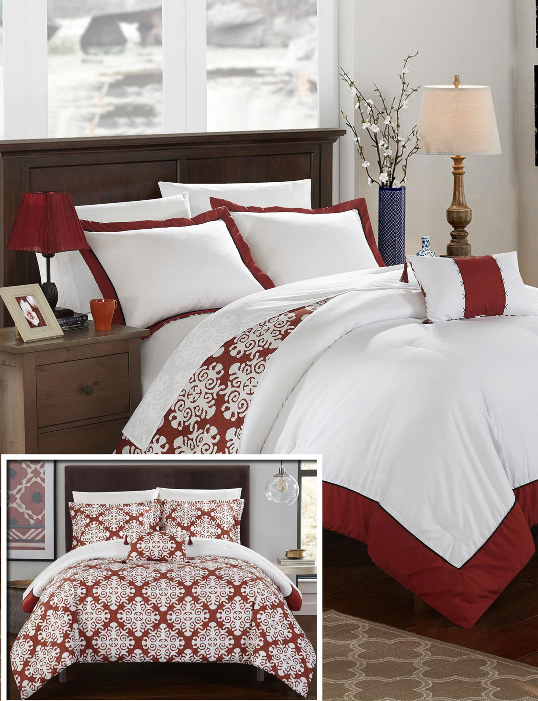 Chic Home Design Red Duvet Duvets & Duvet Sets