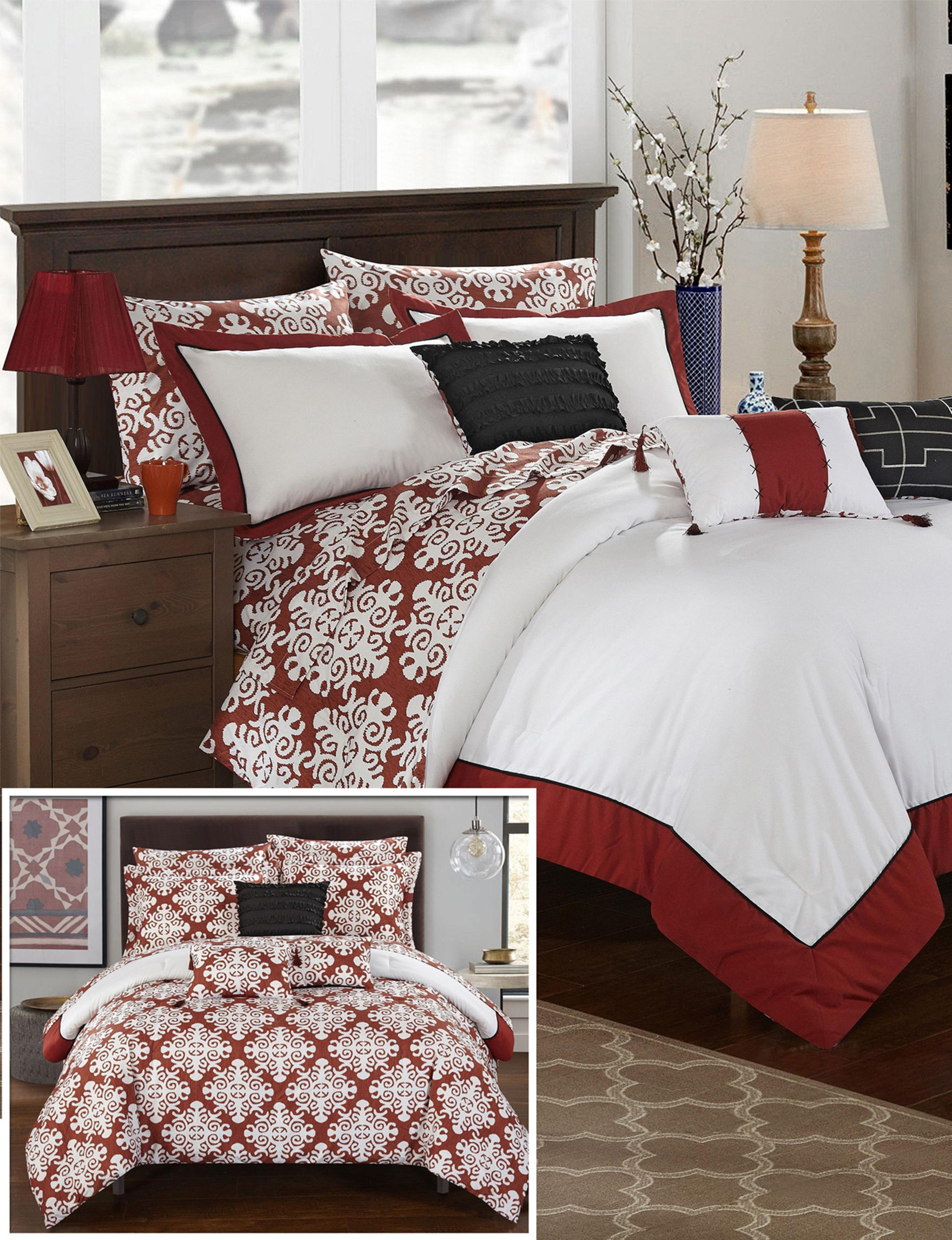 Chic Home Design Red Comforters & Comforter Sets
