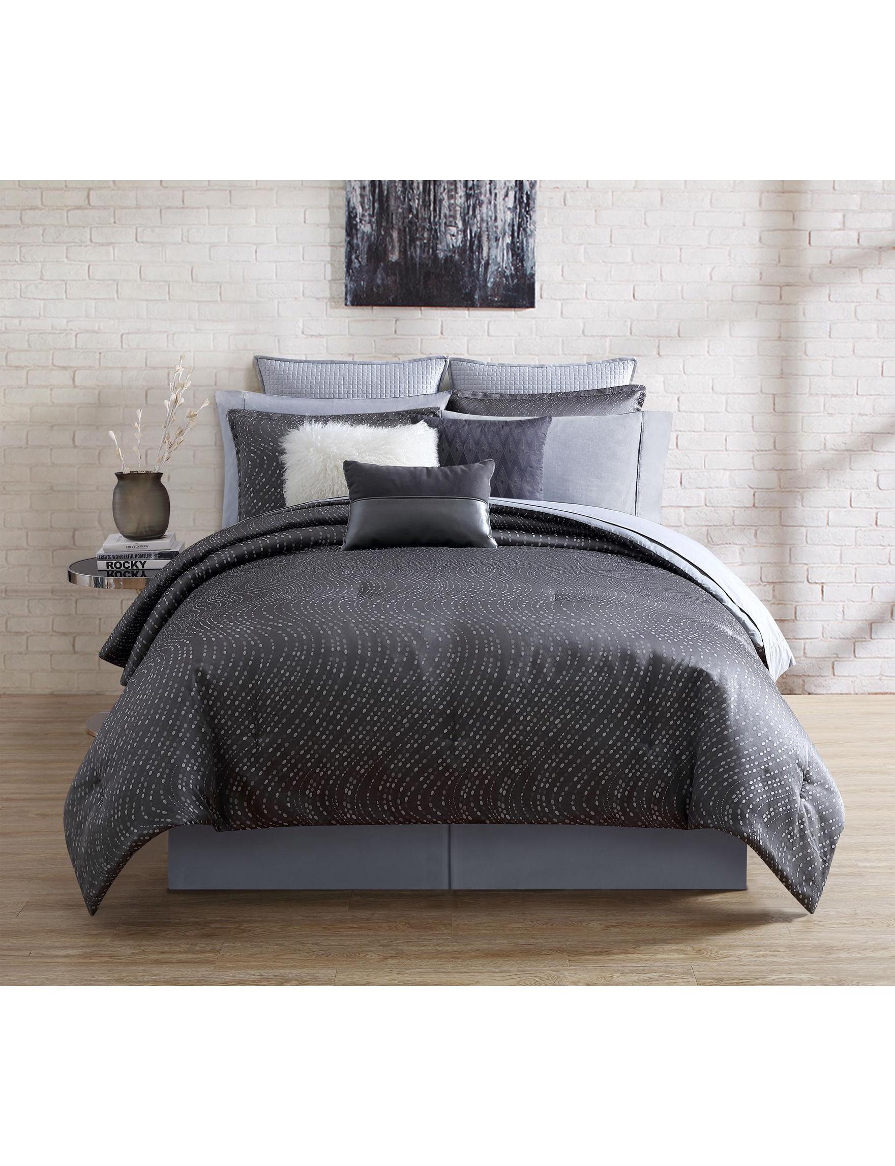 Nikki Chu Dark Grey Comforters & Comforter Sets