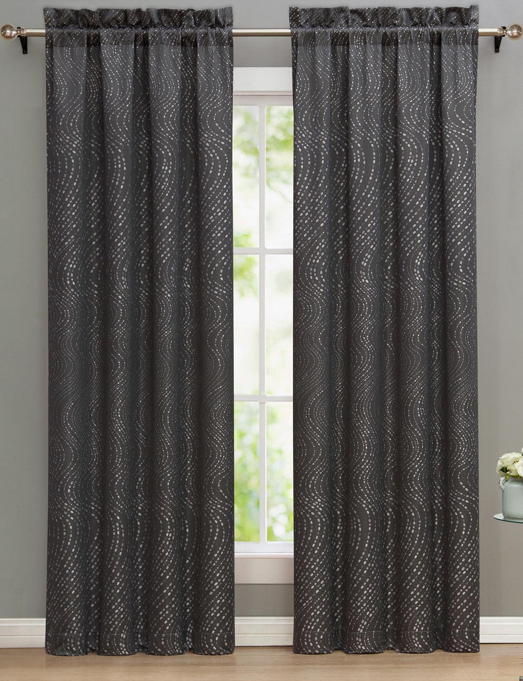 Nikki Chu Grey Curtains & Drapes Window Treatments
