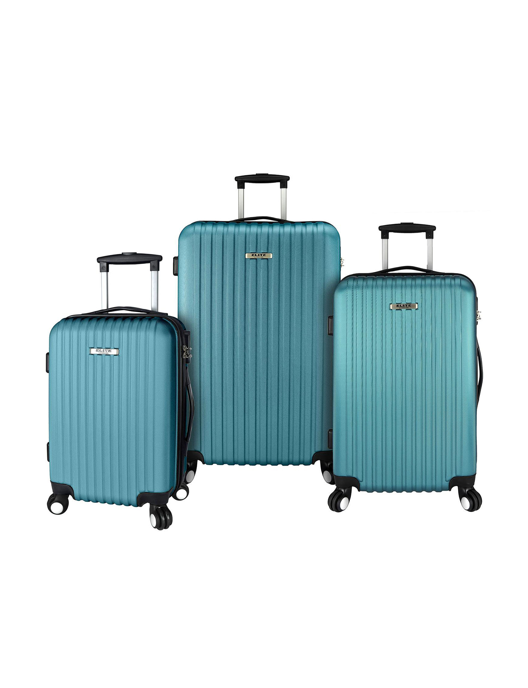Elite Luggage Teal Luggage Sets Upright Spinners