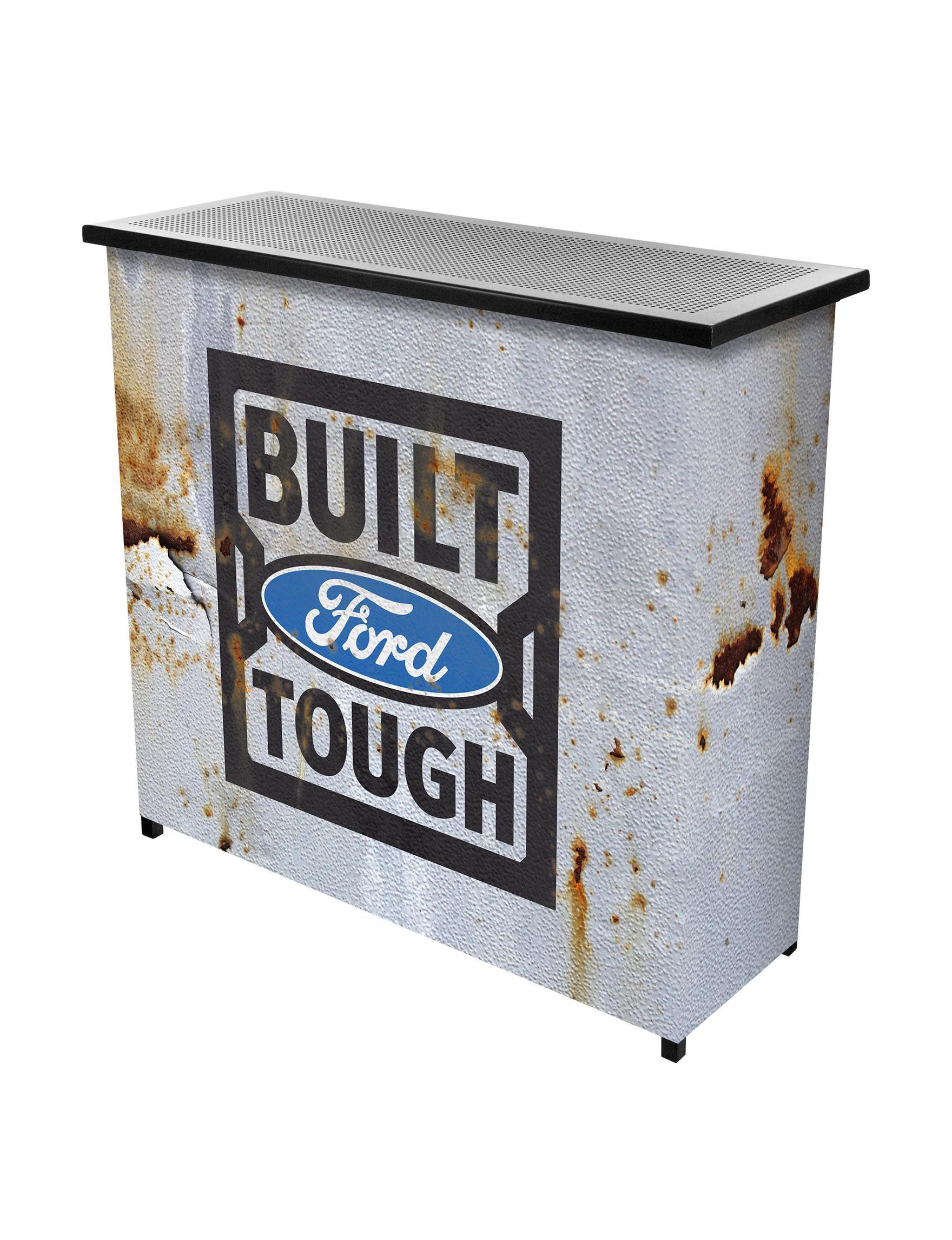 Trademark Global Grey / Black Bar & Wine Storage Kitchen & Dining Furniture