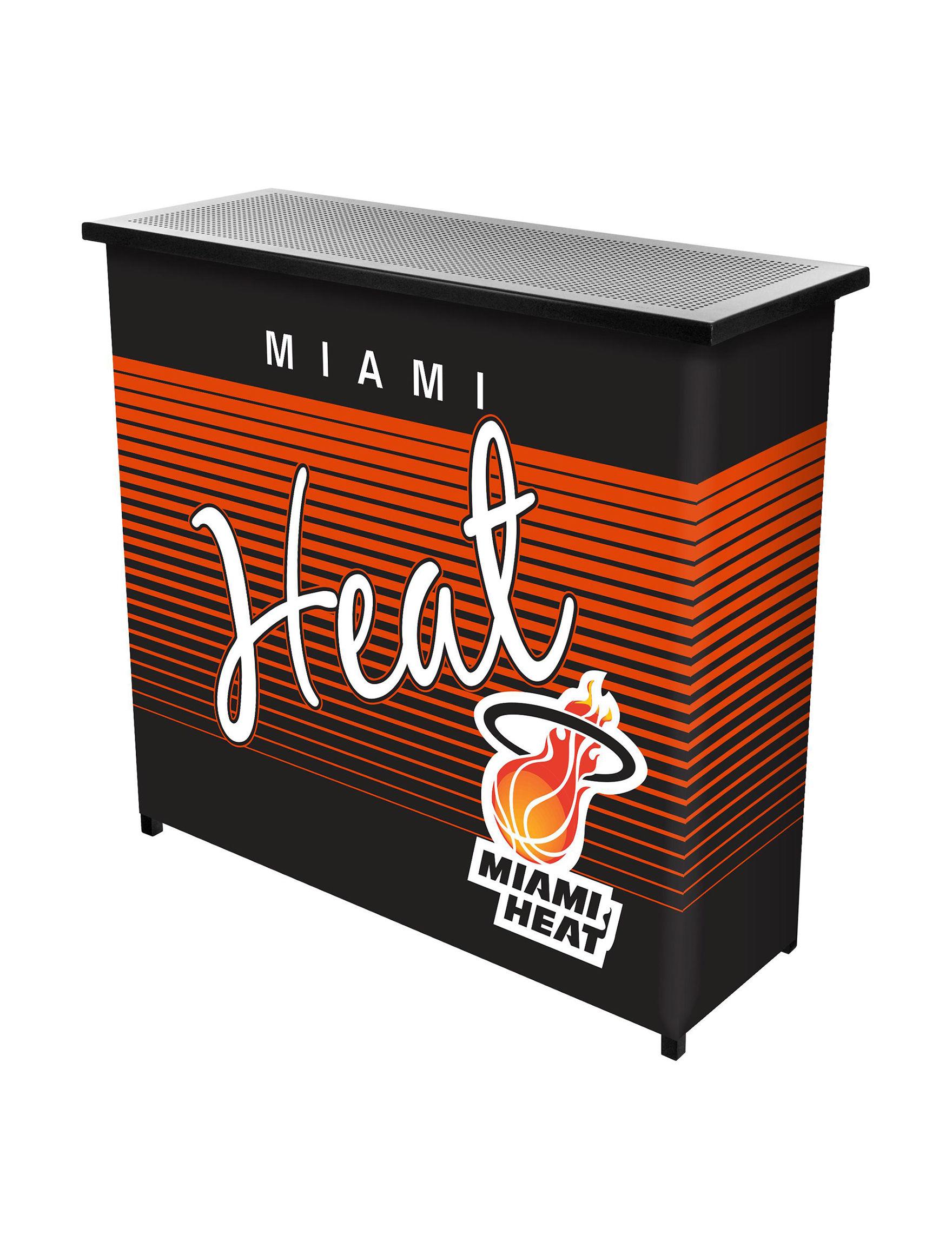 NBA Red / Black Bar & Wine Storage Kitchen & Dining Furniture NBA