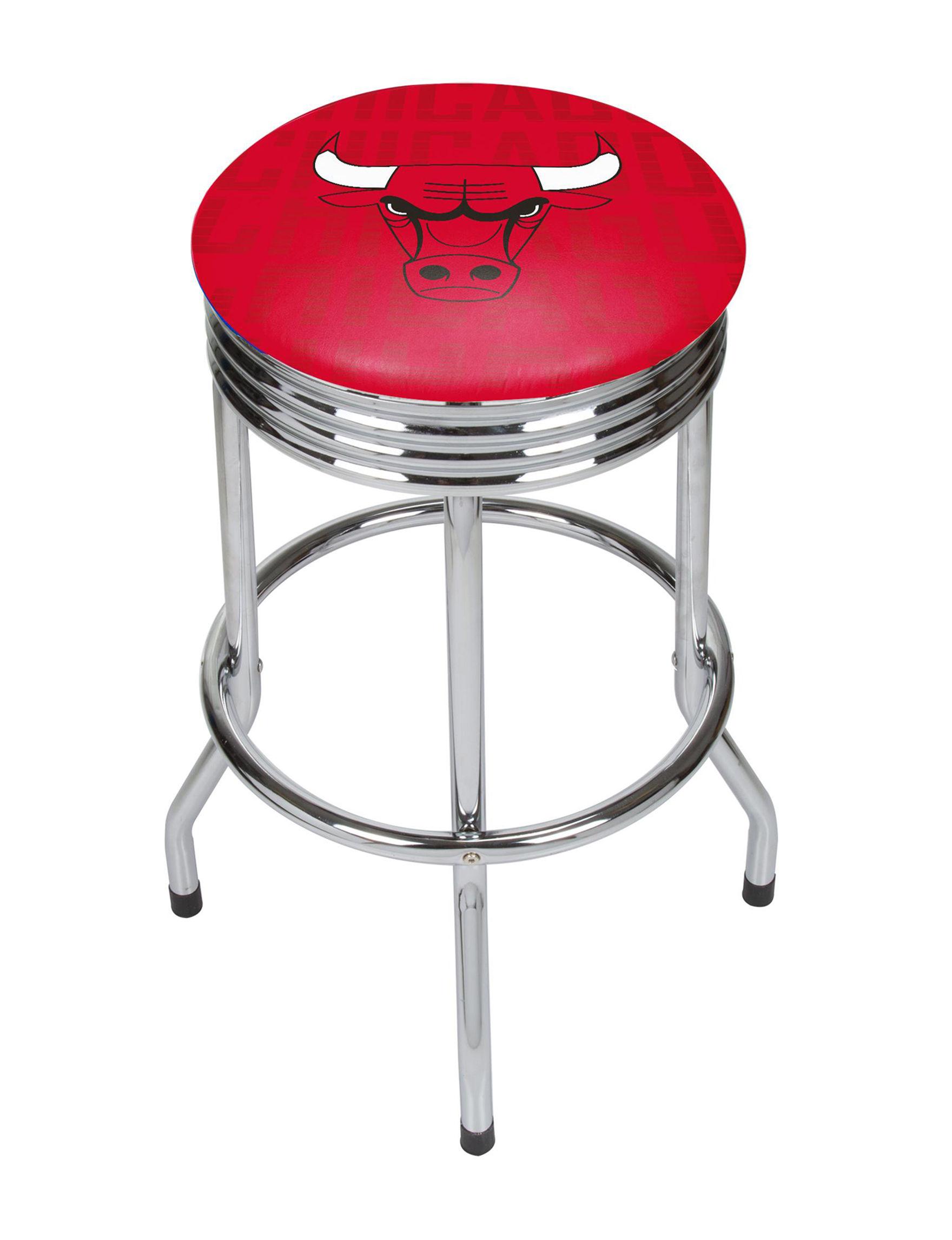 NBA Red / Black / White Bar & Kitchen Stools Kitchen & Dining Furniture NBA