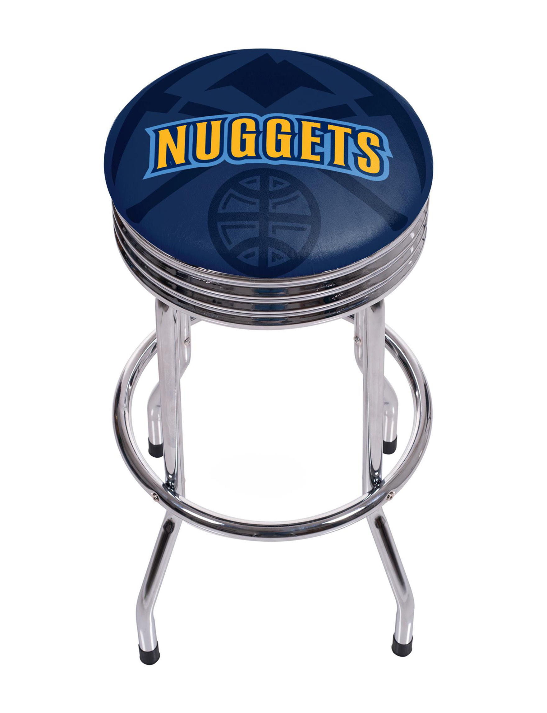 Denver Nuggets Chrome Ribbed Bar Stool Stage Stores