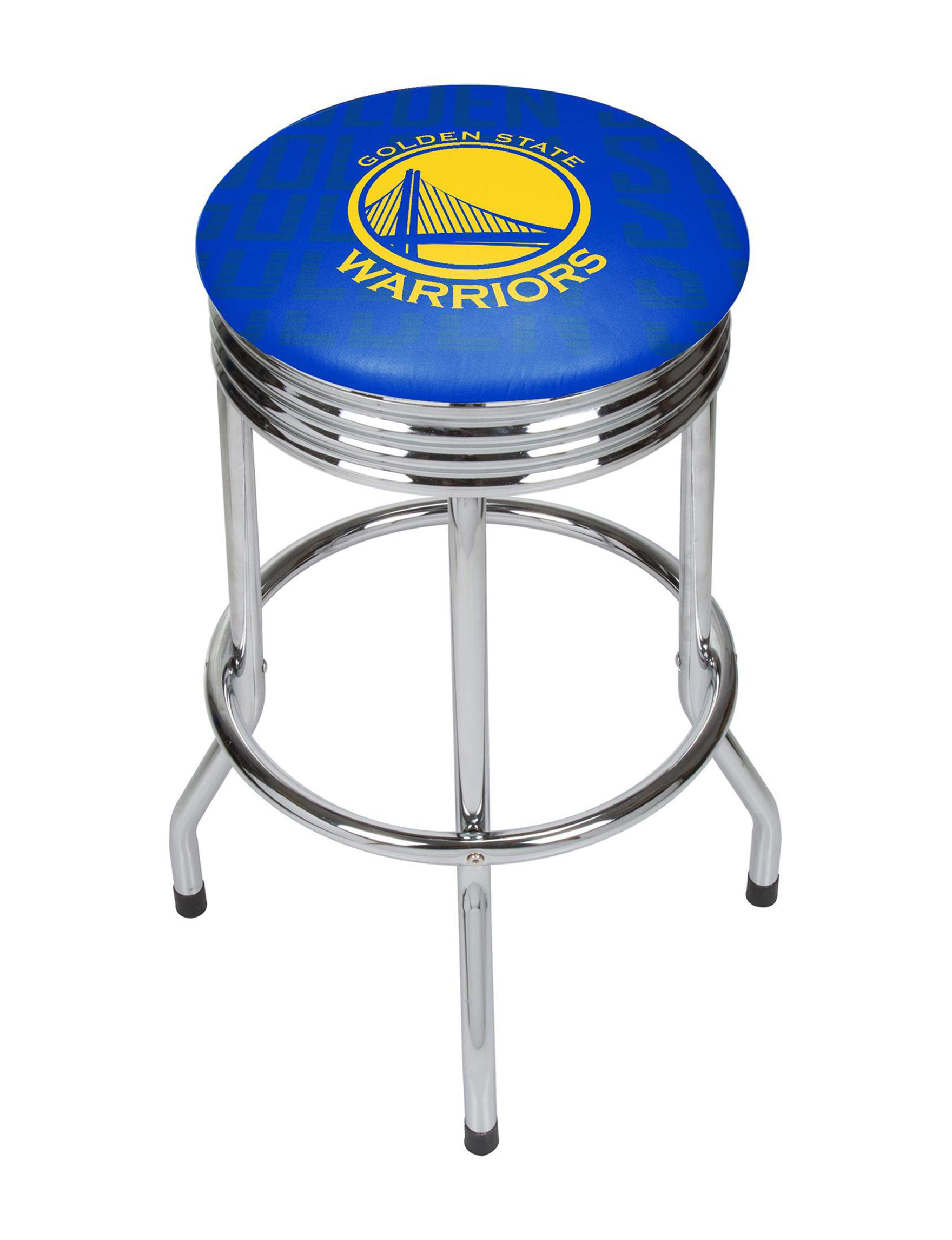 Golden State Warriors Basketball Club Ribbed Bar Stool