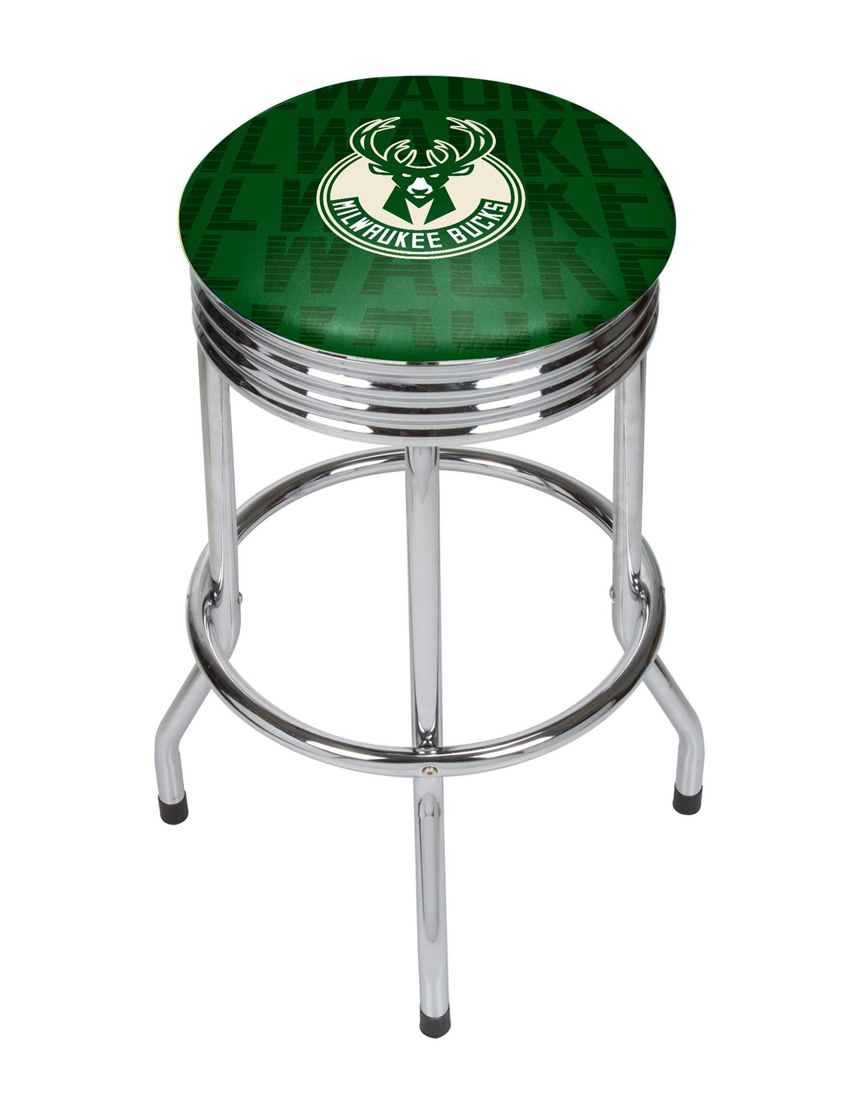 NBA Ivory/ Green Bar & Kitchen Stools Kitchen & Dining Furniture NBA