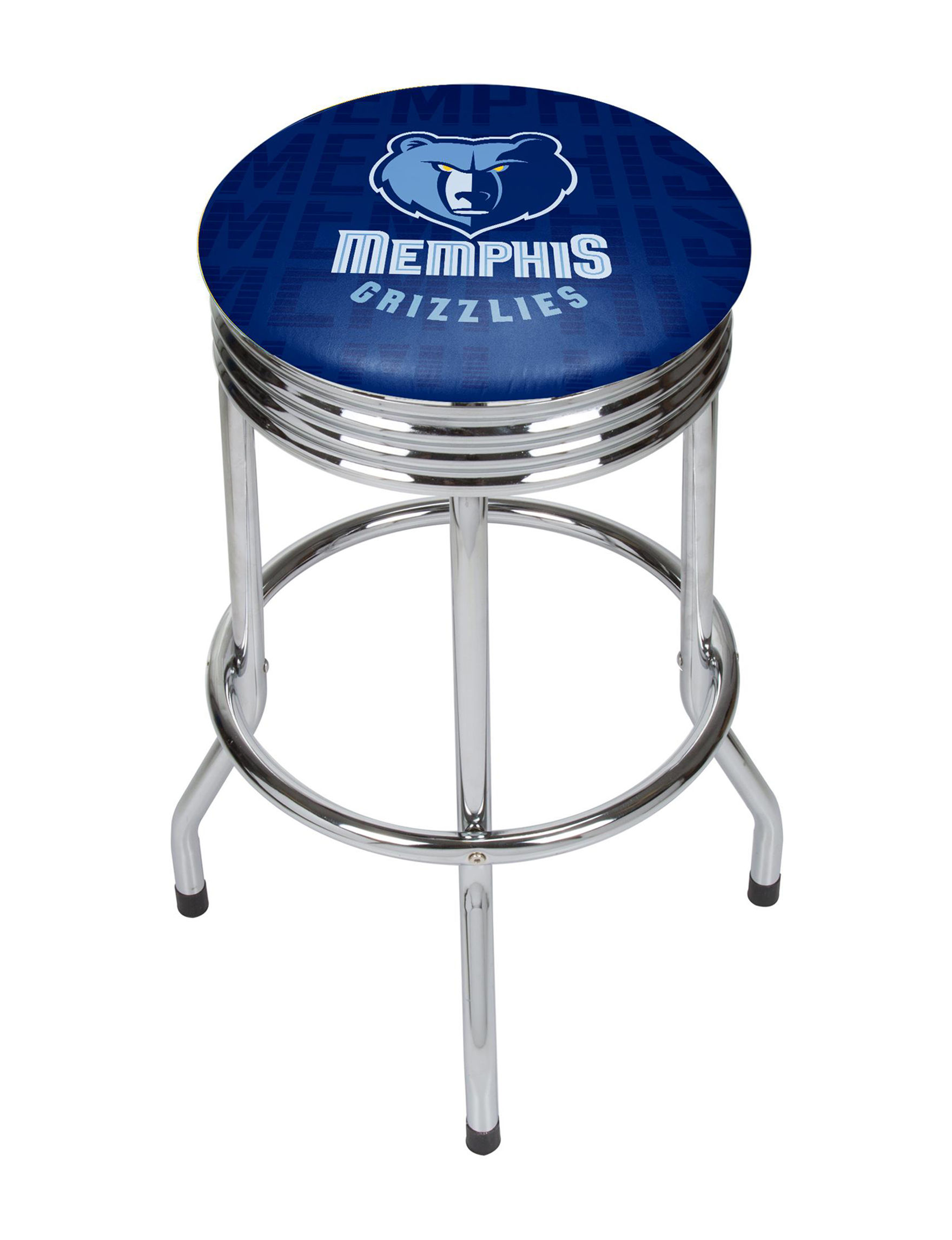 Memphis Grizzlies Basketball Club Ribbed Bar Stool Stage