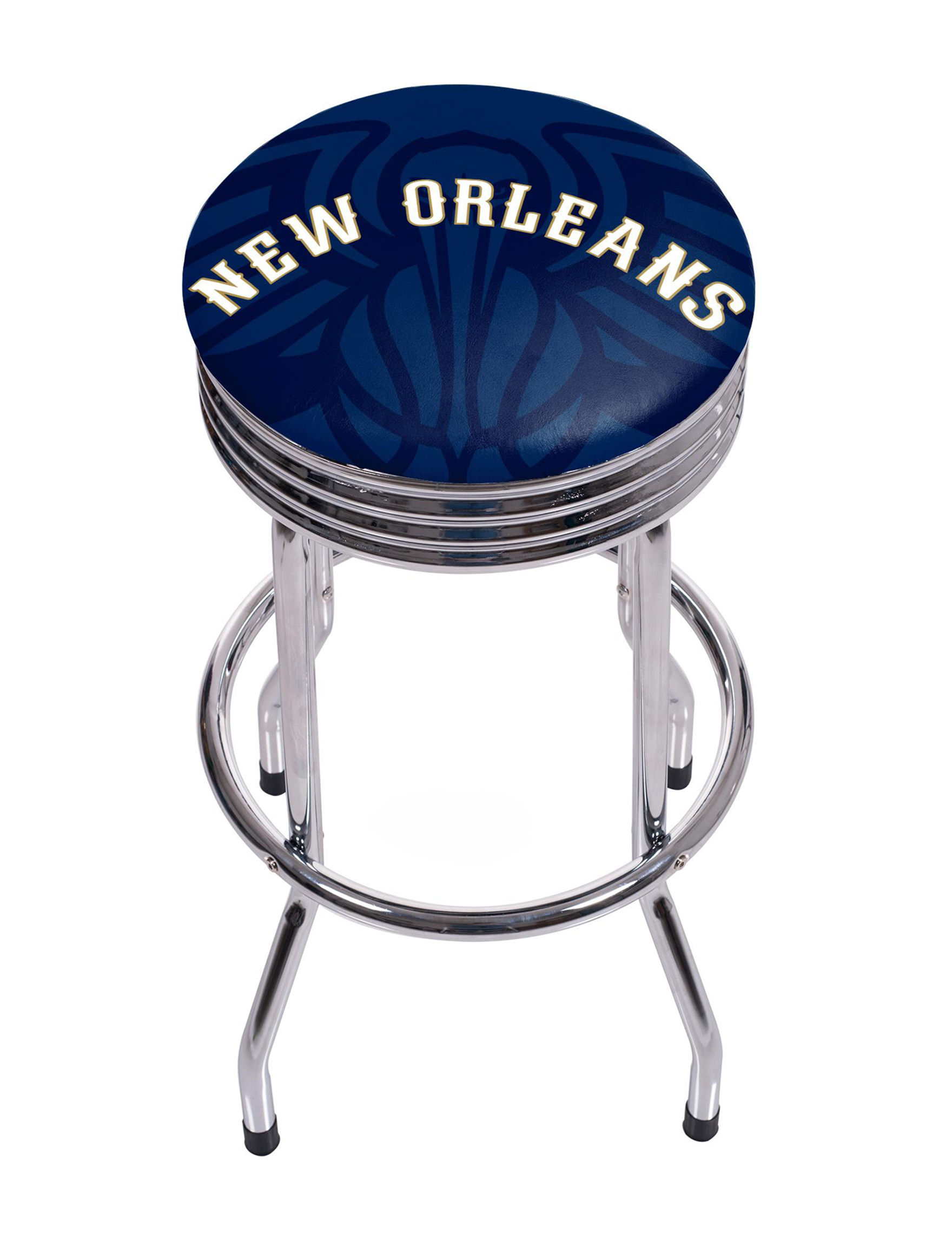 New Orleans Pelicans Chrome Ribbed Bar Stool Stage Stores