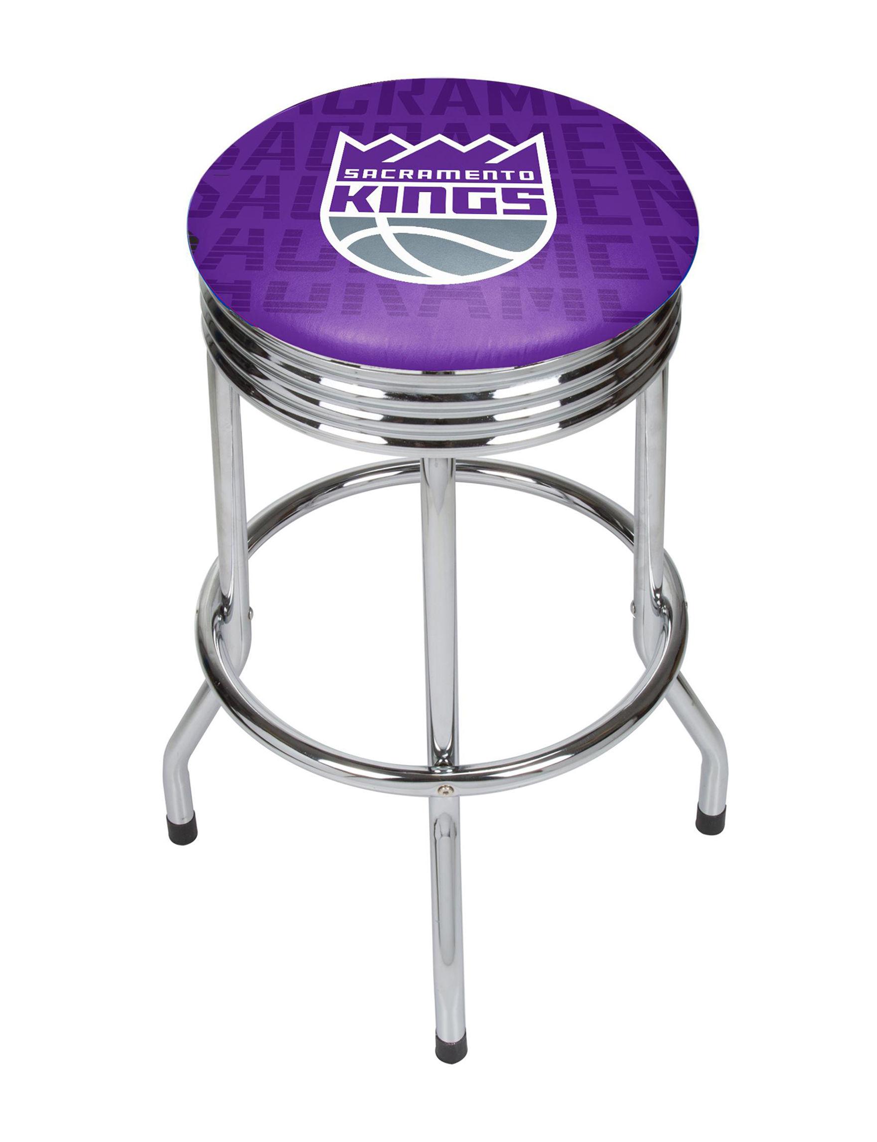NBA Purple / Grey Bar & Kitchen Stools Kitchen & Dining Furniture NBA