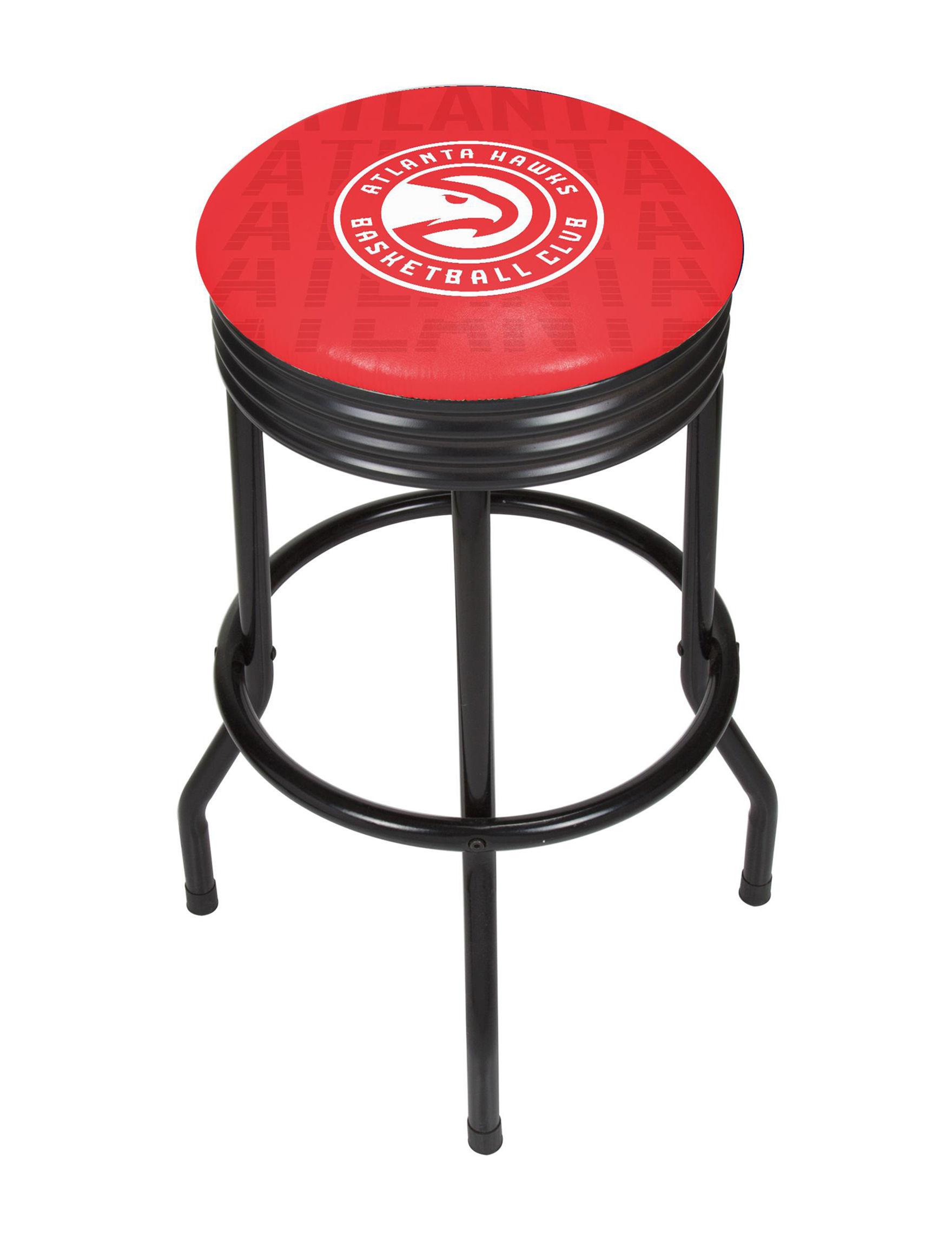 NBA Red / White Bar & Kitchen Stools Kitchen & Dining Furniture