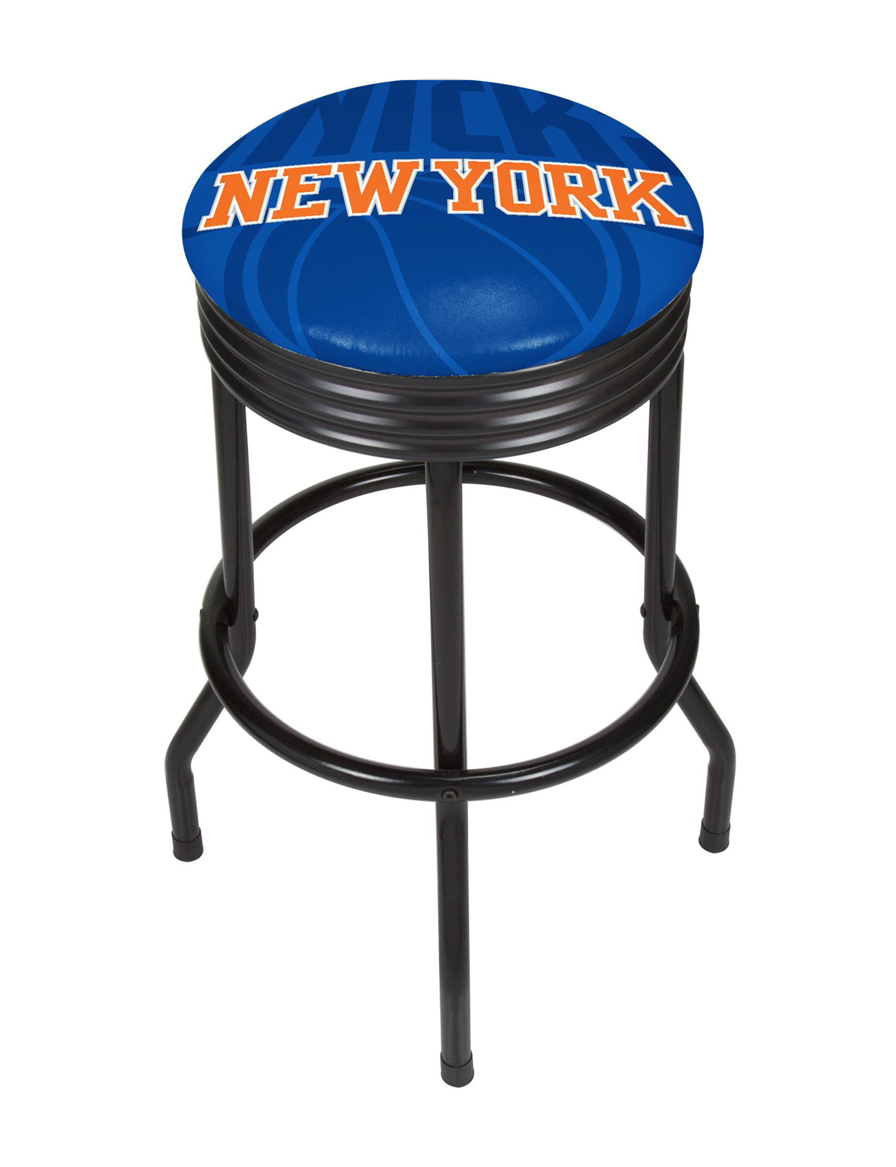 New York Knicks Black Ribbed Bar Stool Stage Stores