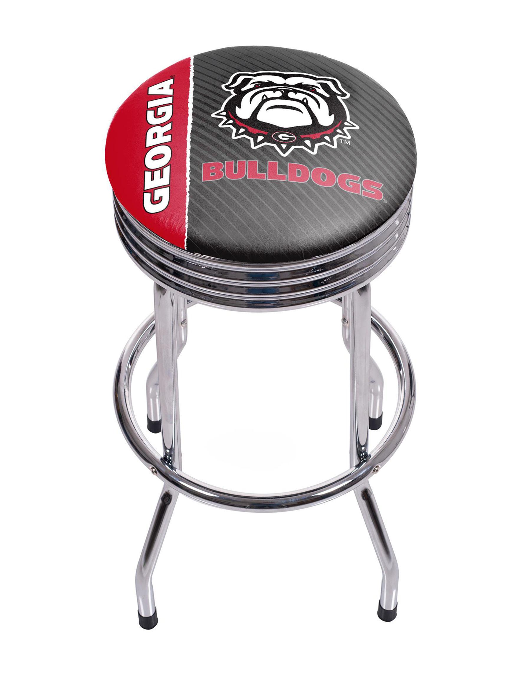 NCAA Red / Black / White Bar & Kitchen Stools Kitchen & Dining Furniture NCAA