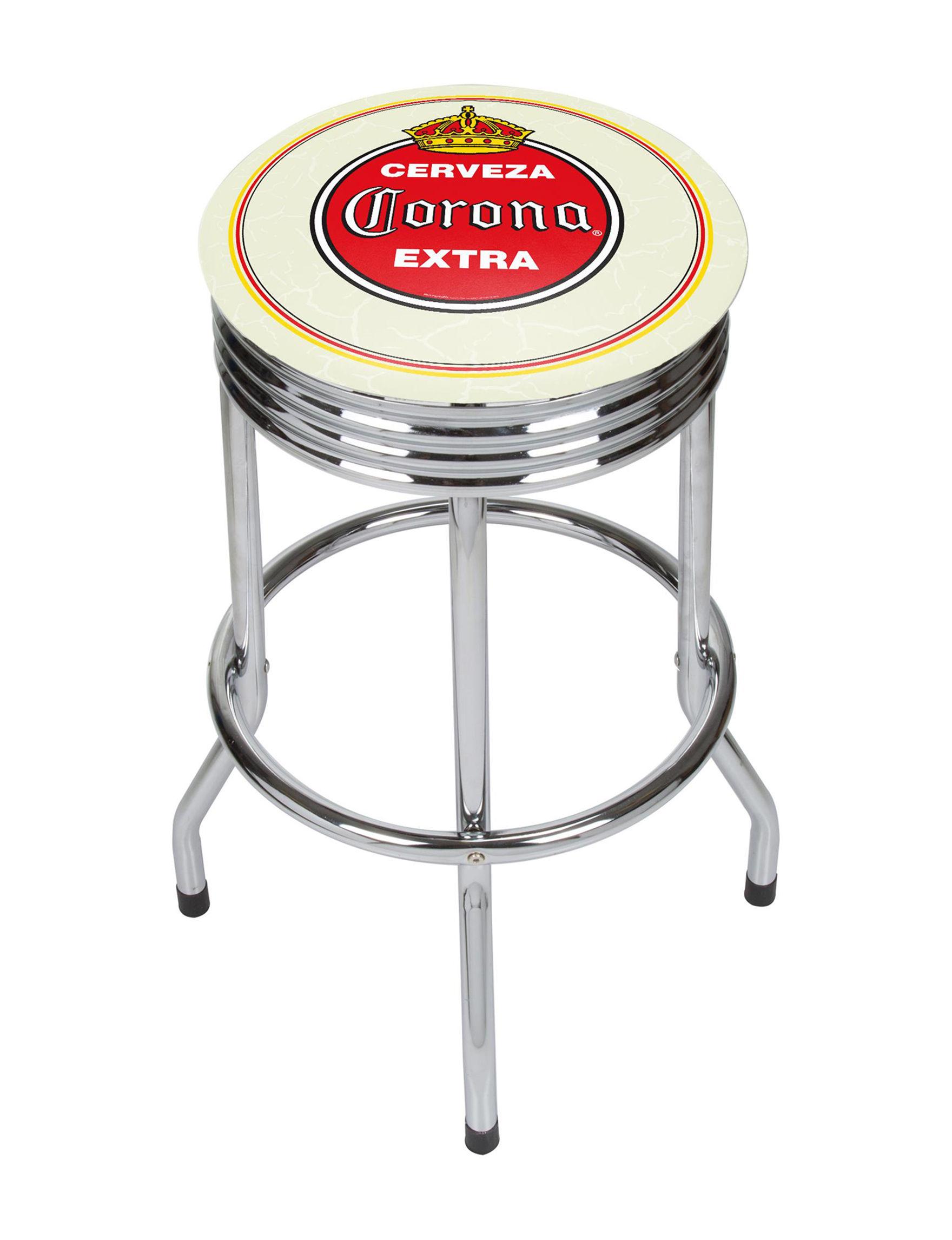 Corona Vintage Chrome Bar Stool Stage Stores