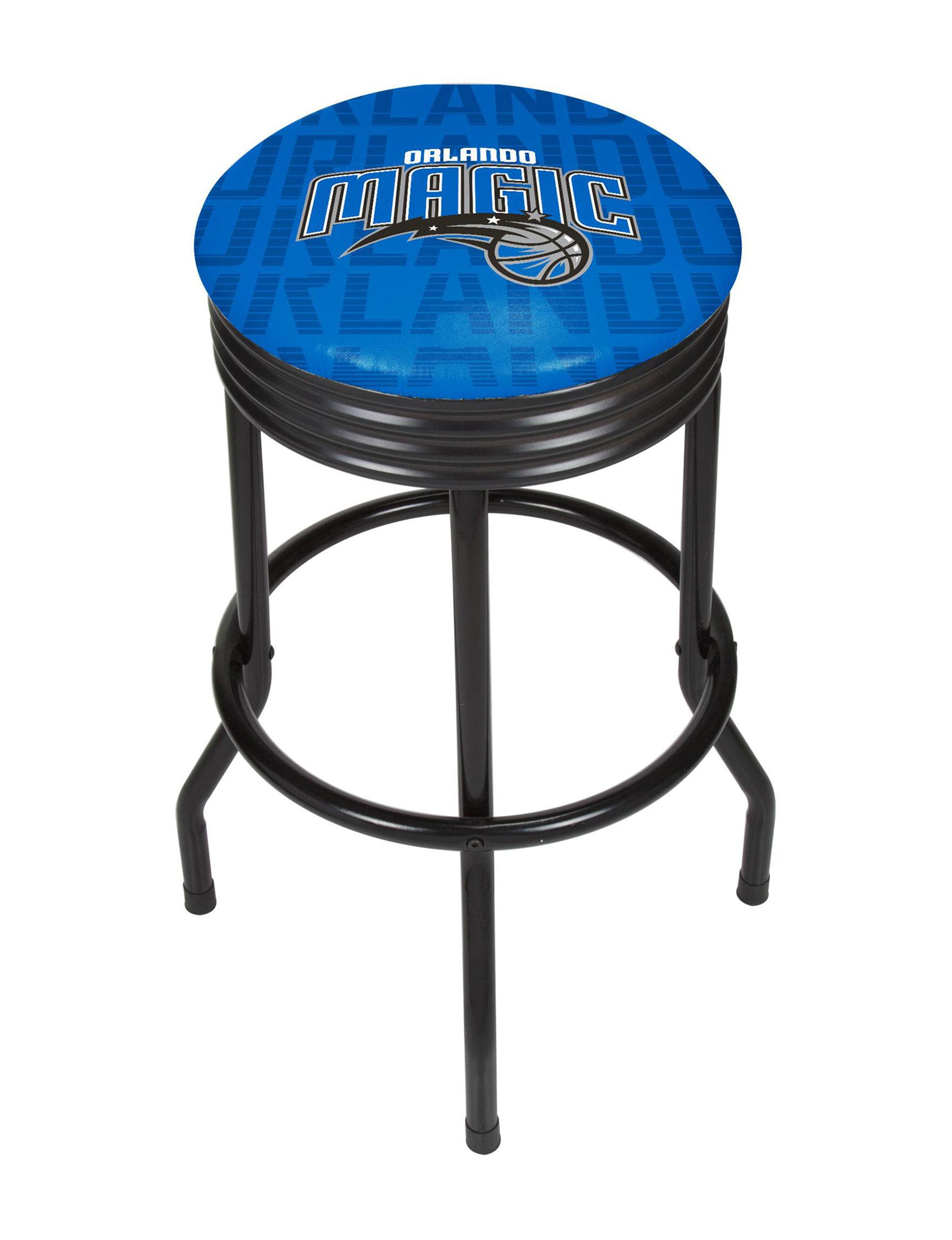NBA Blue / Silver Bar & Kitchen Stools Kitchen & Dining Furniture NBA